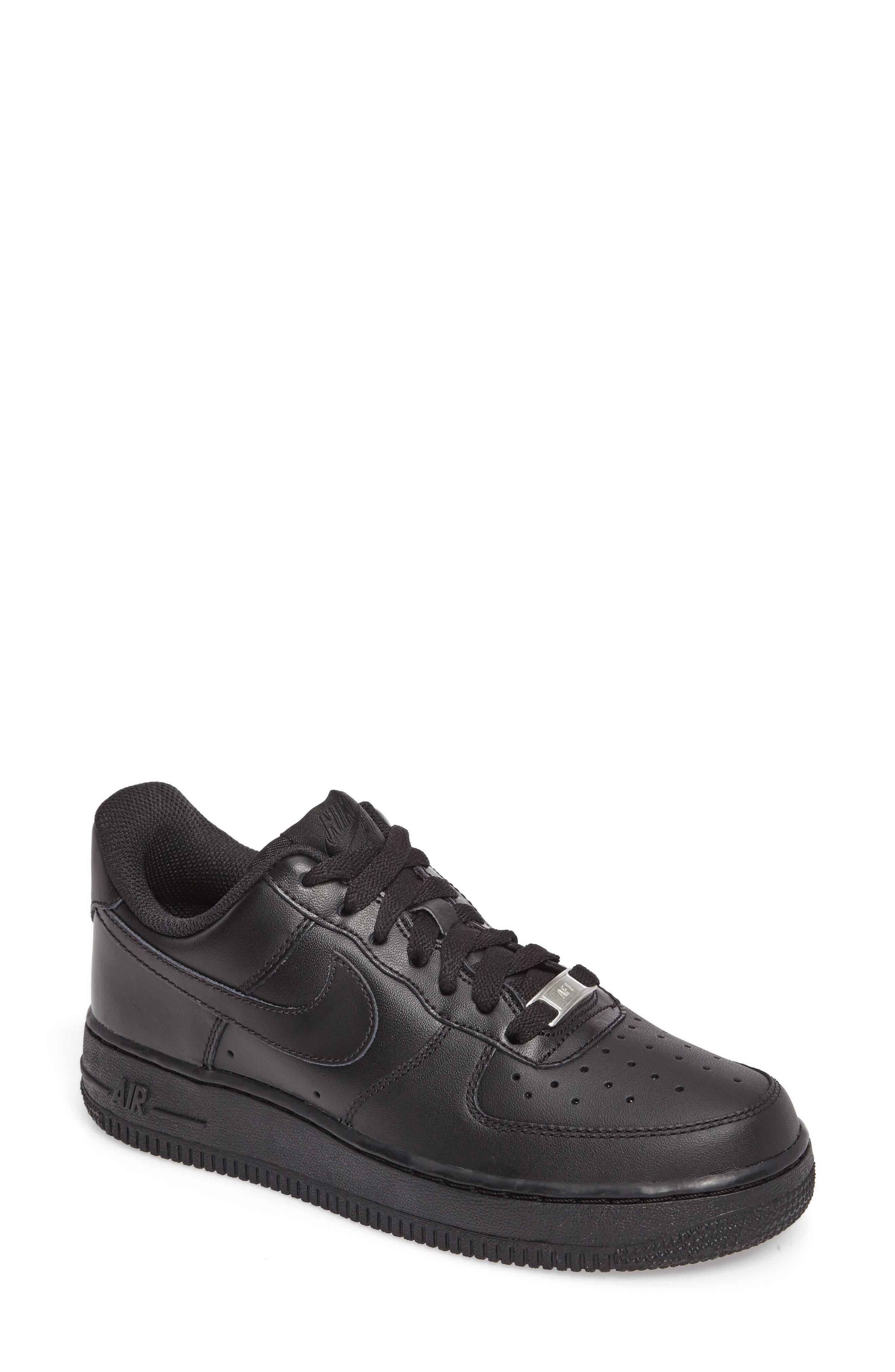 'Air Force 1' Basketball Sneaker,                             Main thumbnail 1, color,                             BLACK/ BLACK