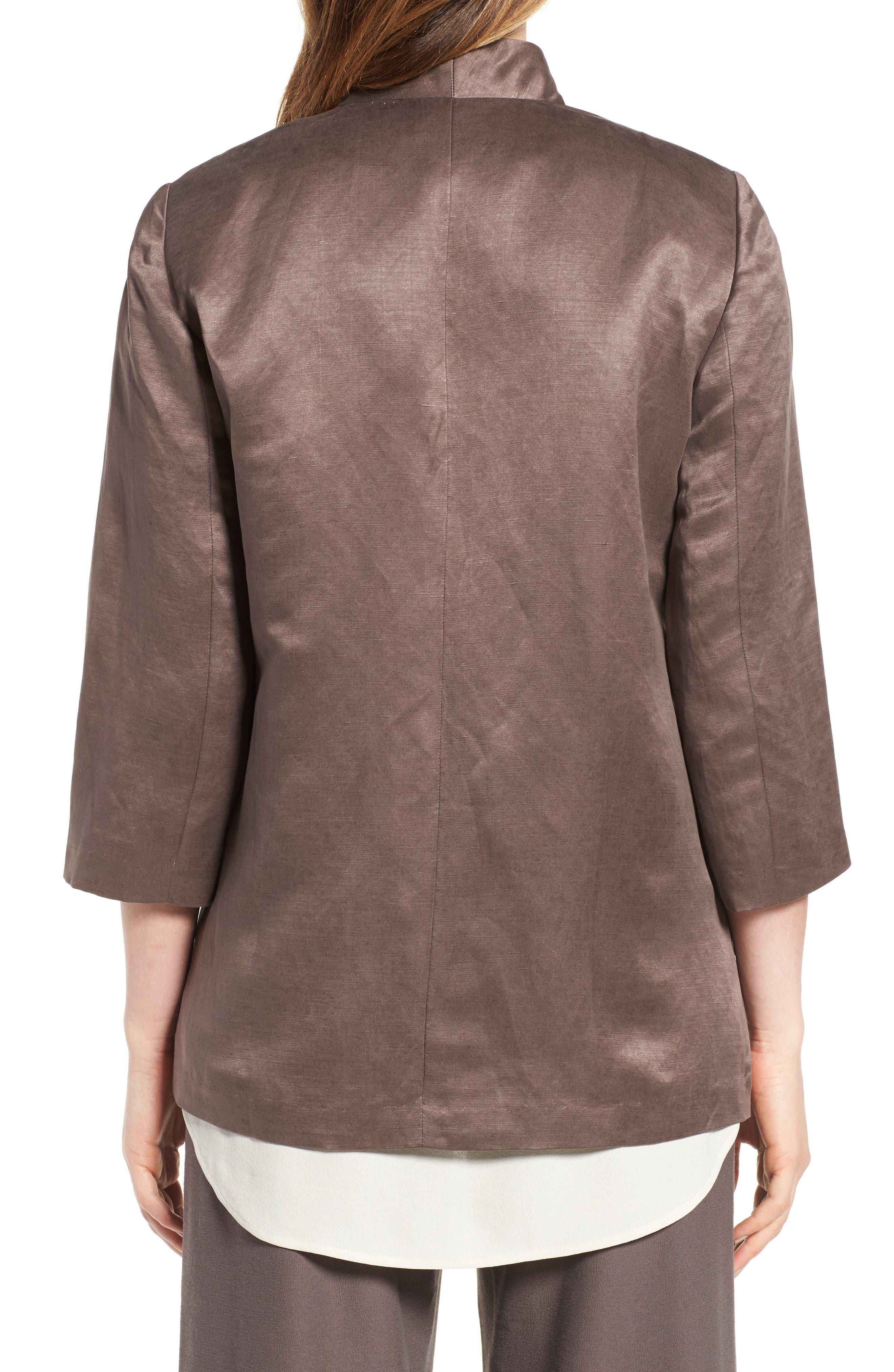 Organic Linen & Silk Jacket,                             Alternate thumbnail 2, color,                             200