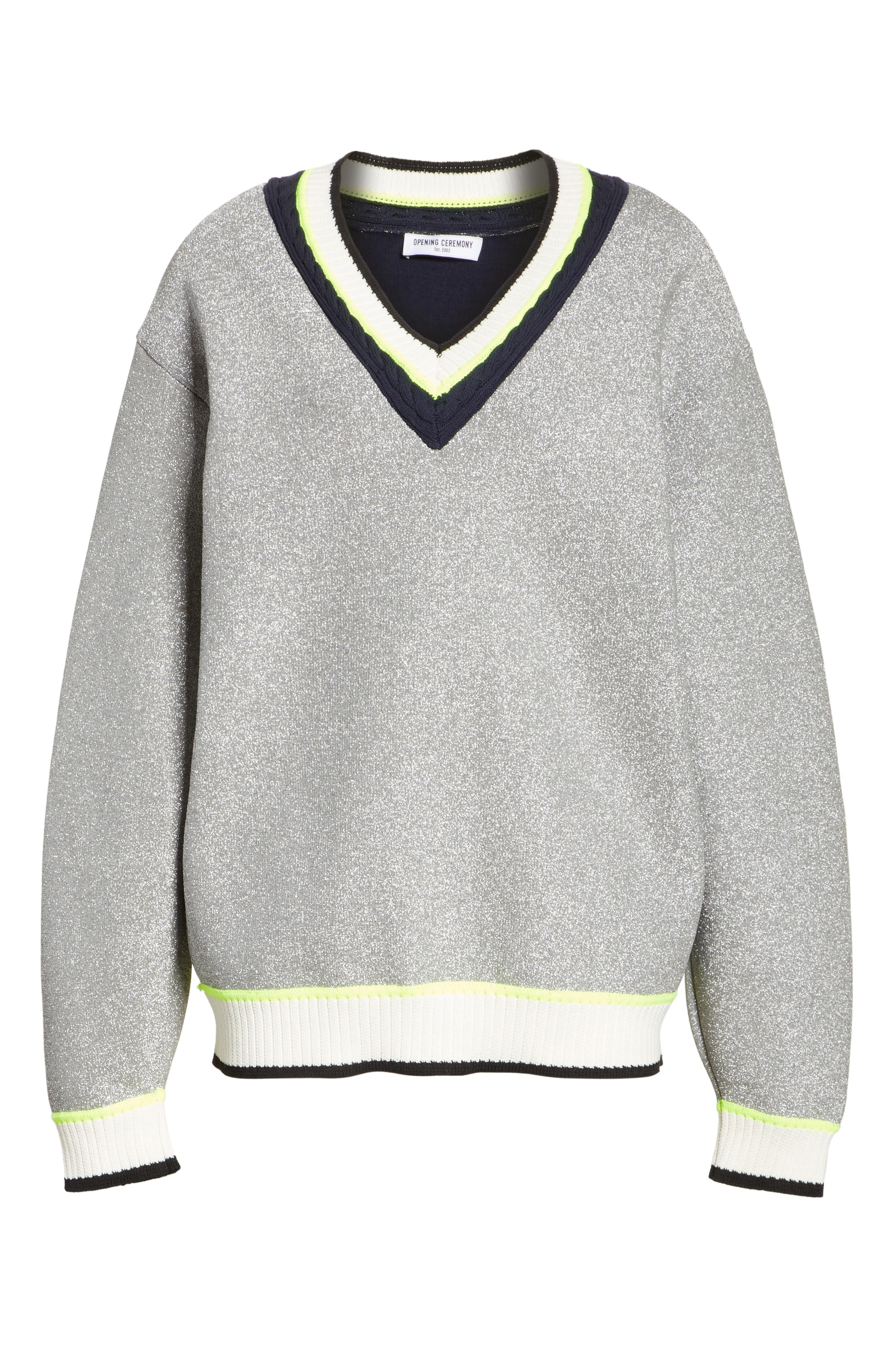 Sport Cable Neck Sweater,                             Alternate thumbnail 6, color,