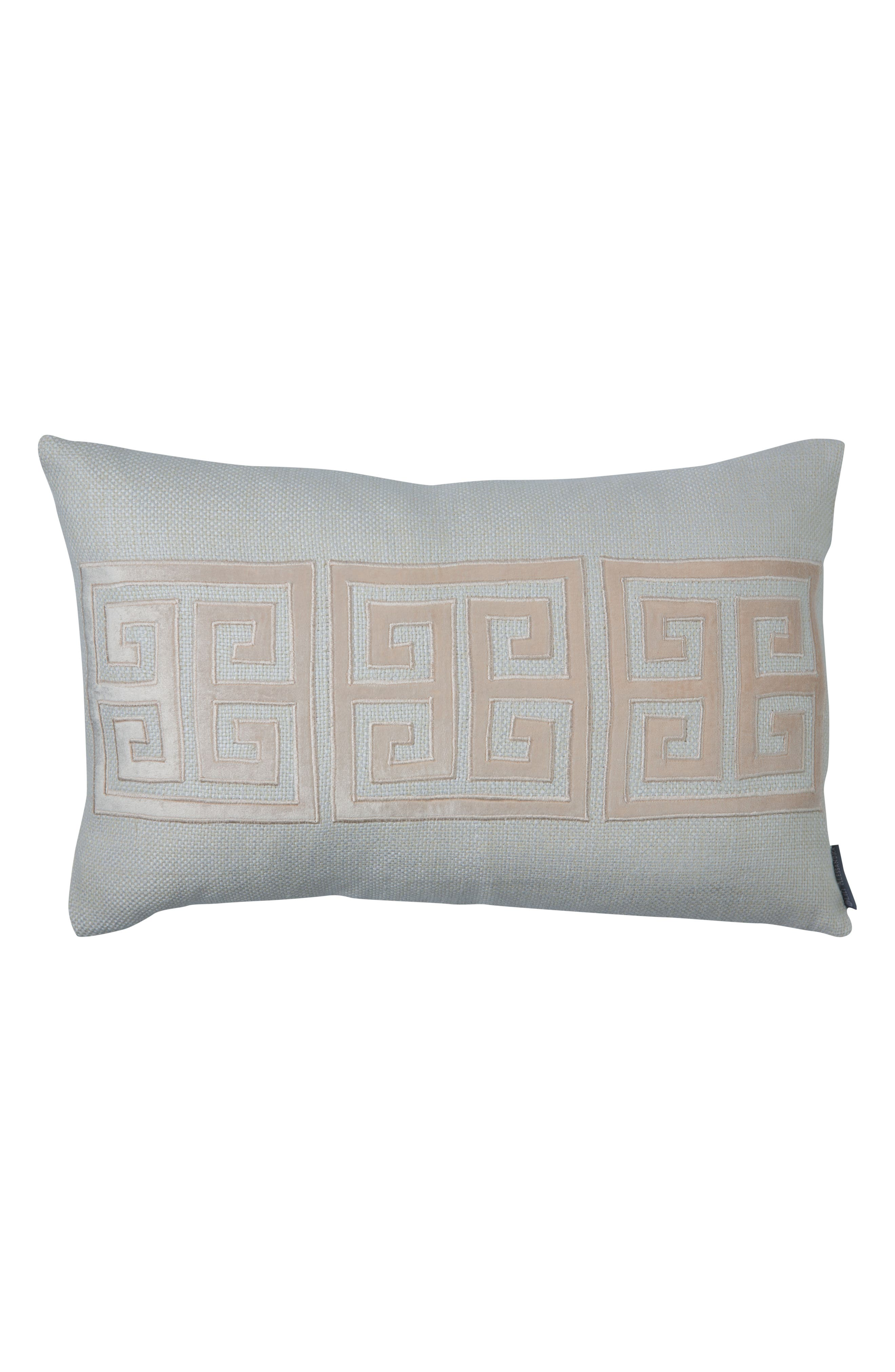 Guy Greek Key Accent Pillow,                         Main,                         color, 100