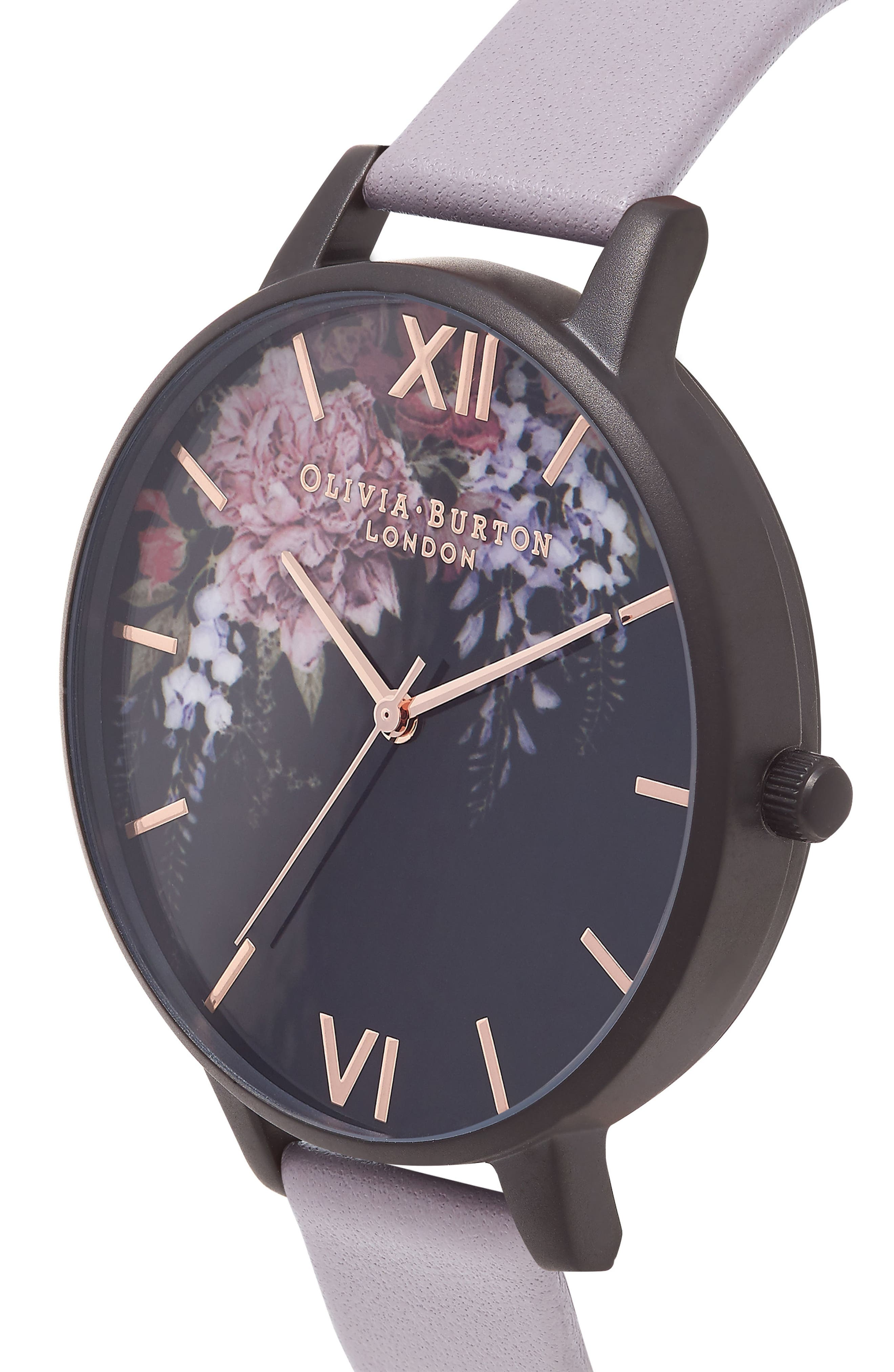 After Dark Butterfly Leather Strap Watch, 38mm,                             Alternate thumbnail 6, color,