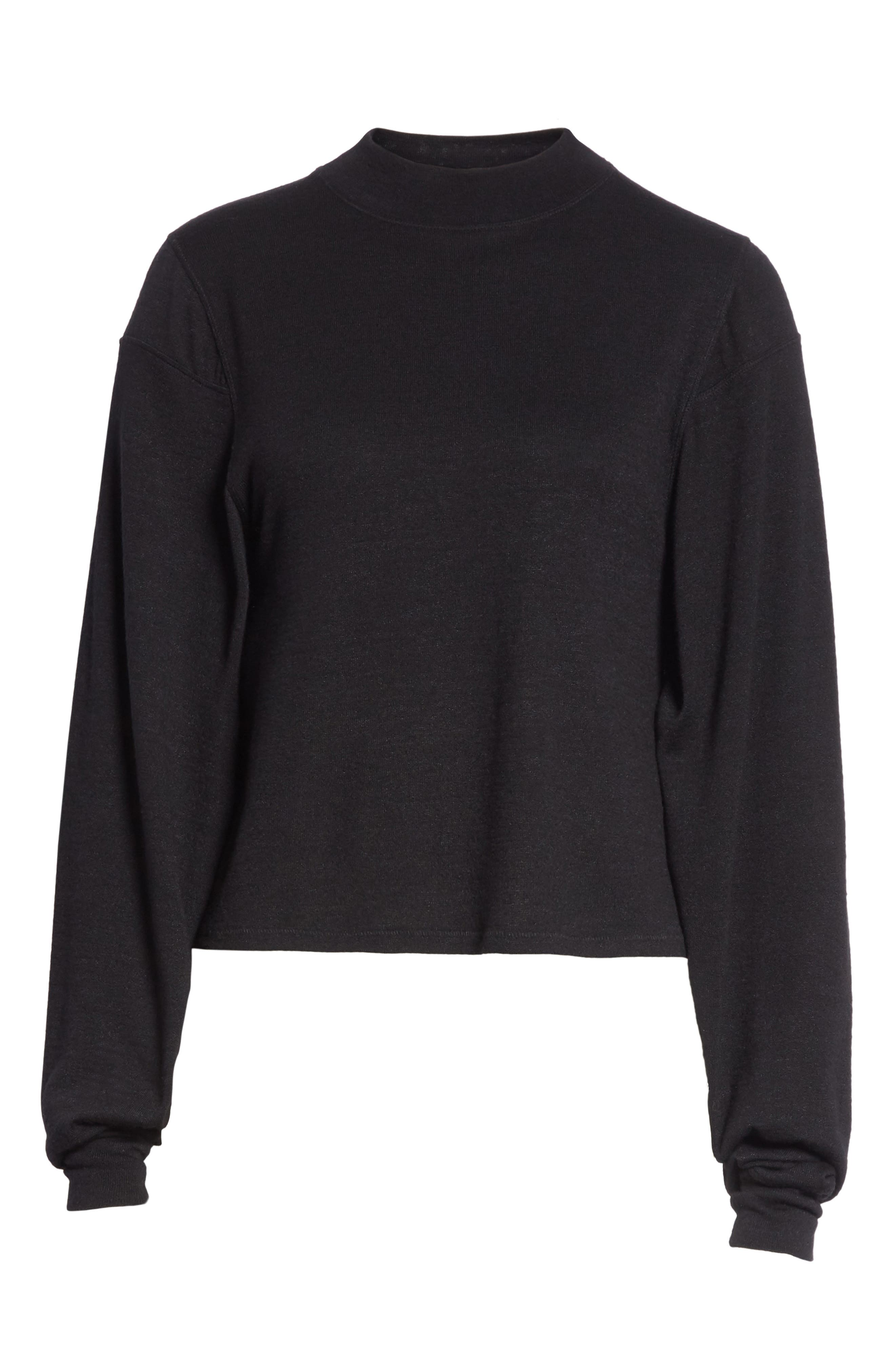 RAG & BONE,                             JEAN Bigsby Long Sleeve Top,                             Alternate thumbnail 6, color,                             001
