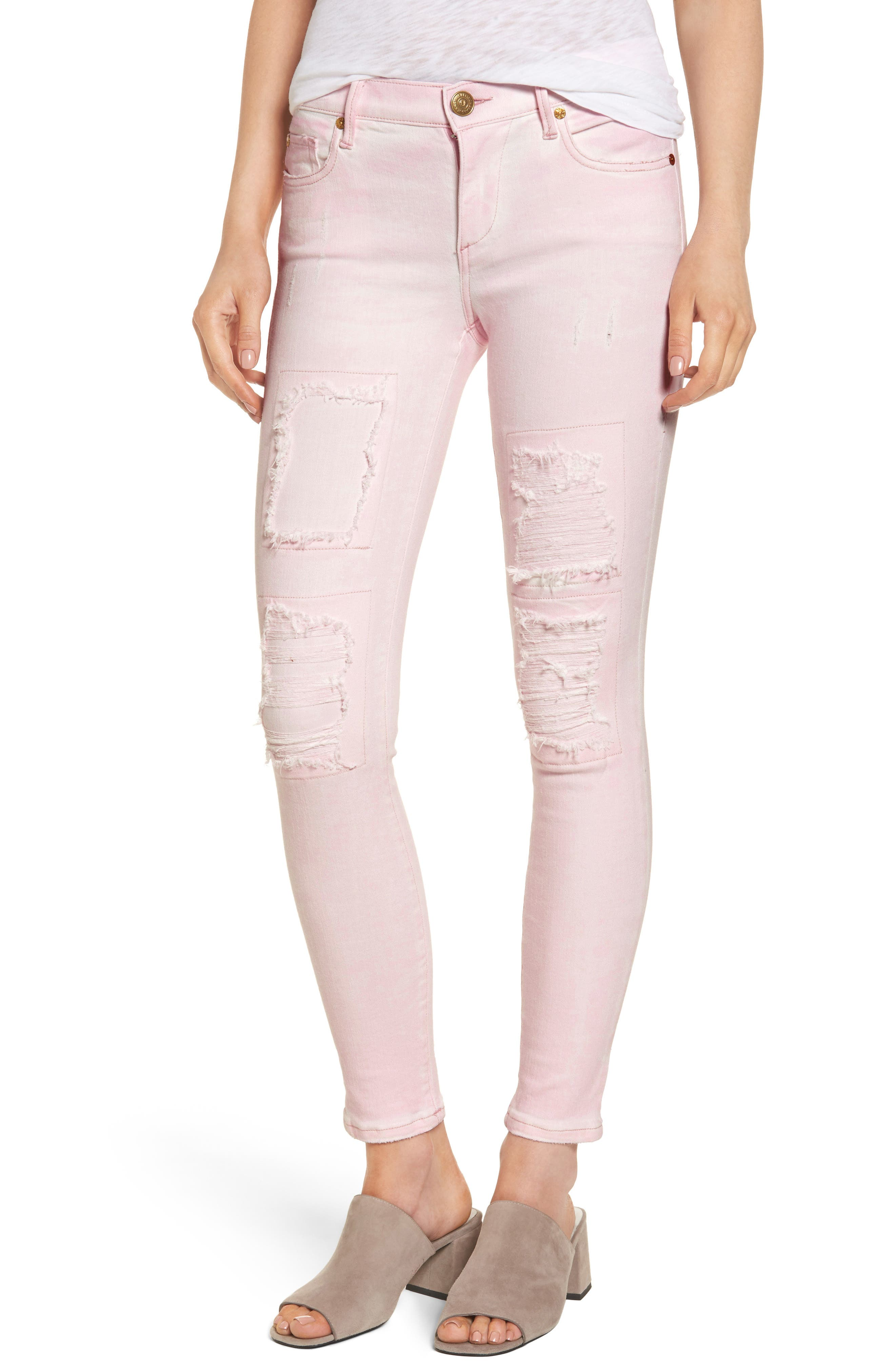 Halle Super Skinny Jeans,                             Main thumbnail 1, color,                             650