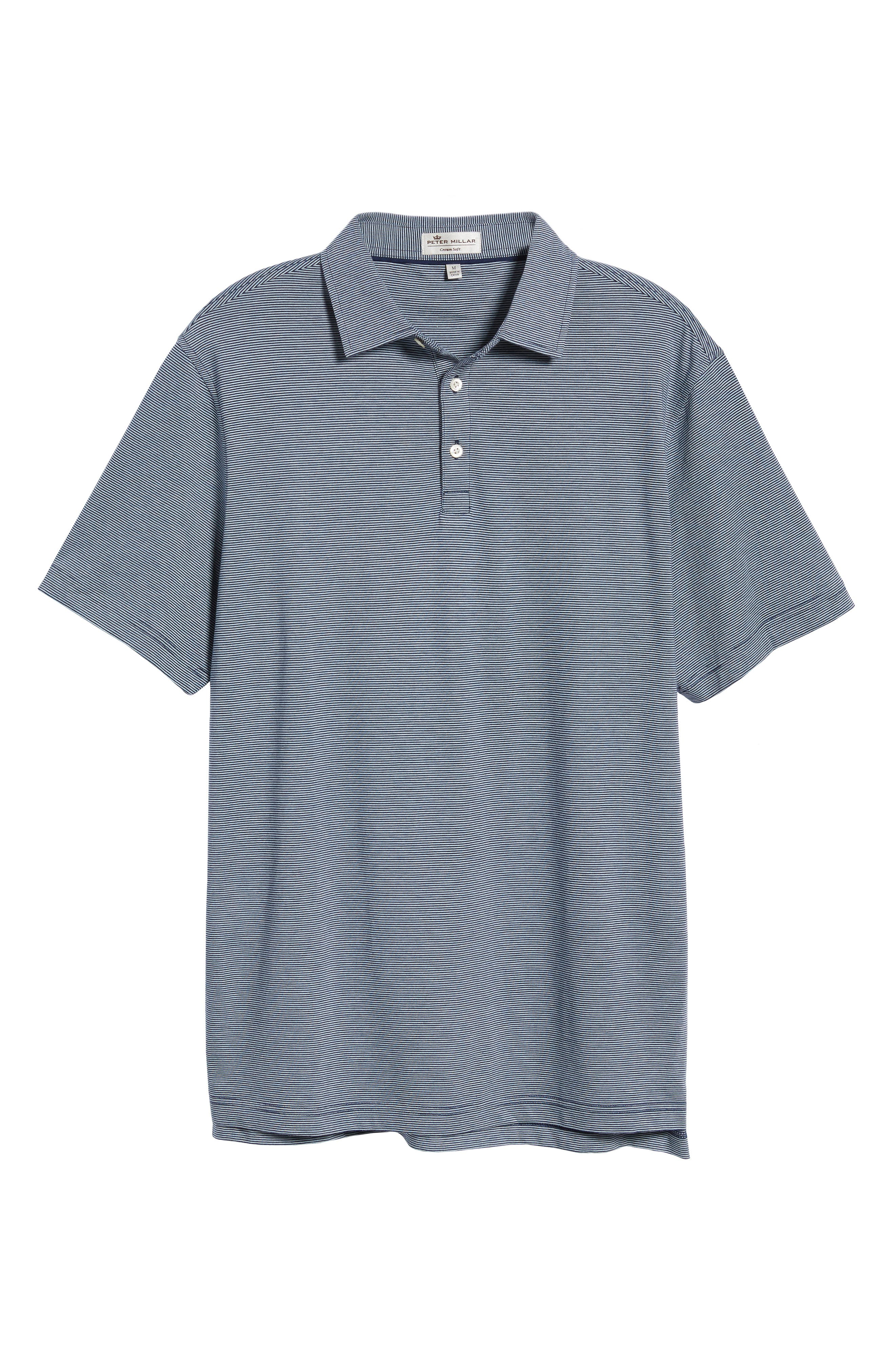 Crown Stripe Polo,                             Alternate thumbnail 6, color,                             400
