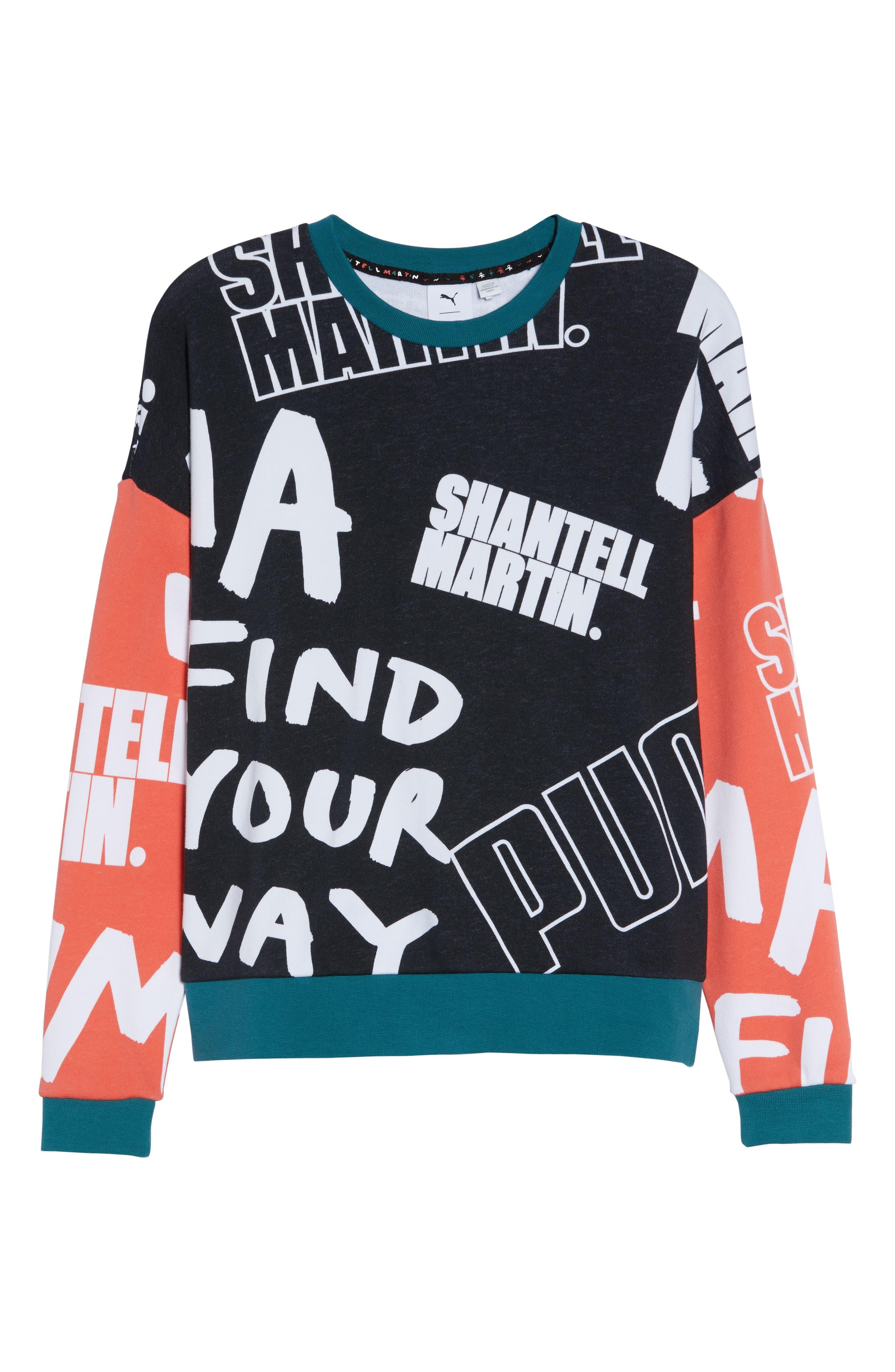 X Shantell Martin Sweatshirt,                             Alternate thumbnail 7, color,                             PUMA BLACK