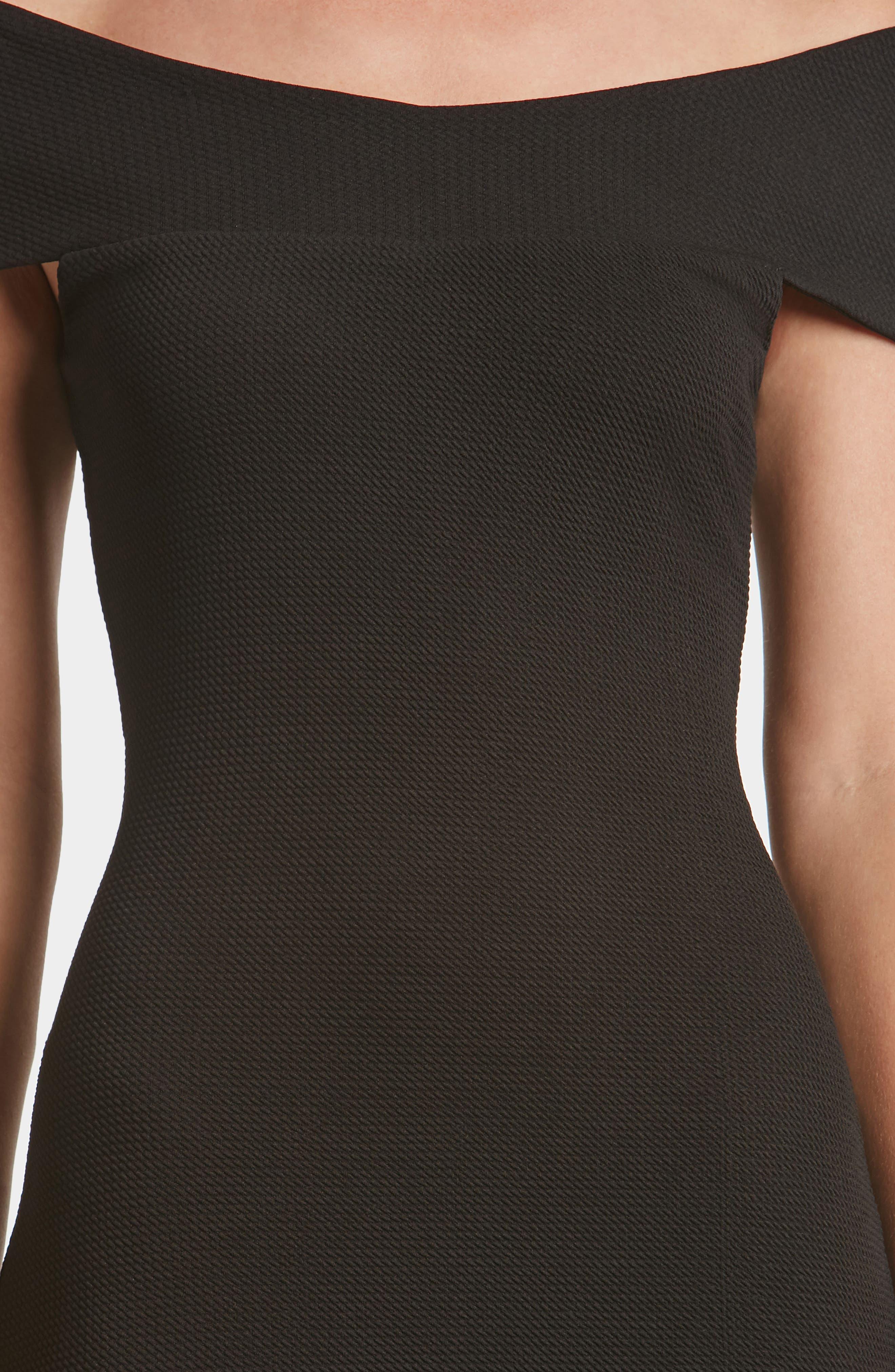 Claudette Textured Dress,                             Alternate thumbnail 4, color,                             001