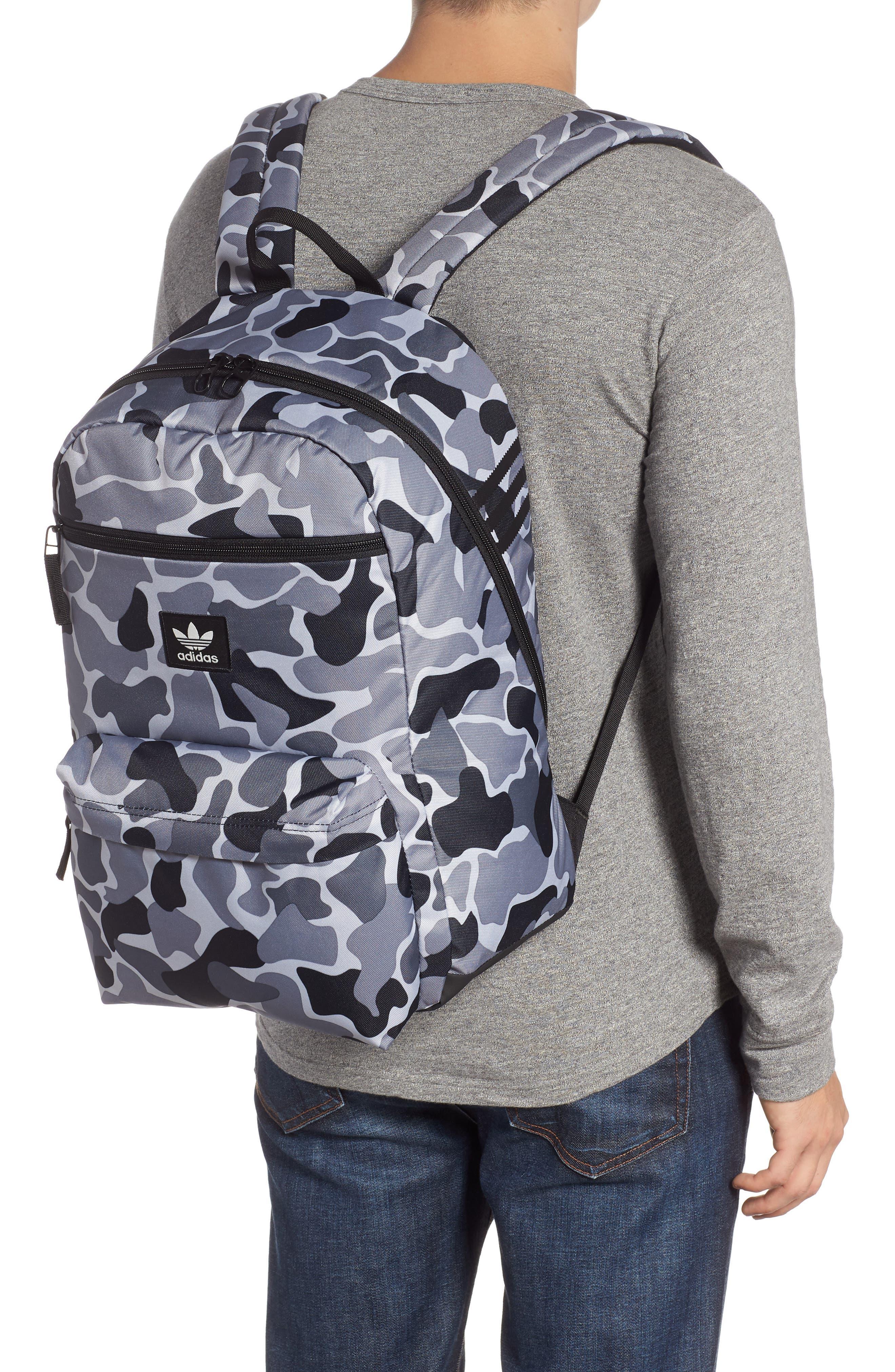 ADIDAS ORIGINALS adidas Original National Backpack, Alternate, color, GREY FOREST CAMO