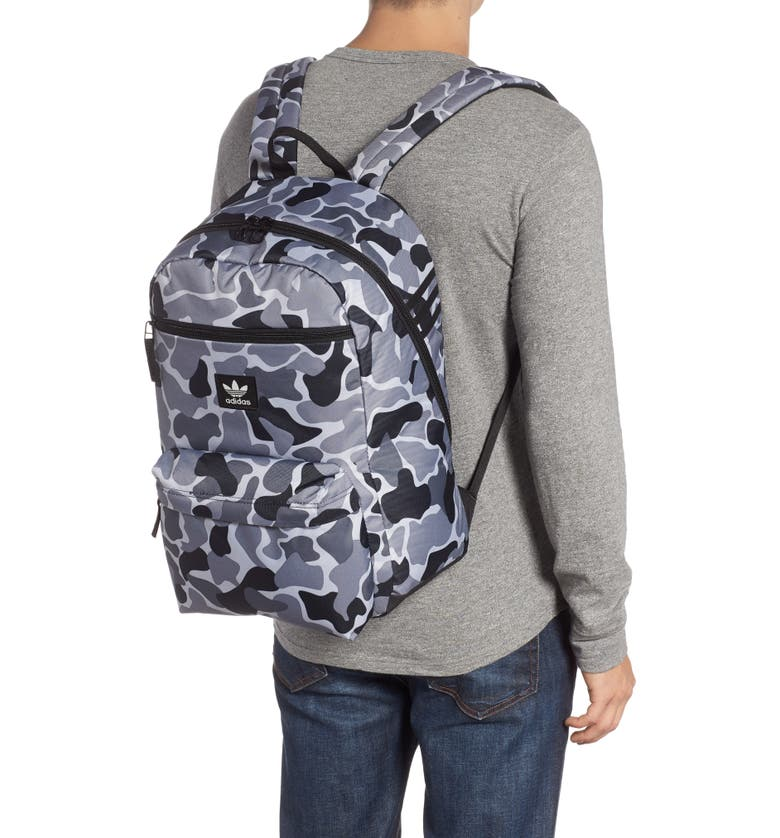 ADIDAS ORIGINALS adidas Original National Backpack, Alternate, color, GREY FOREST CAMO
