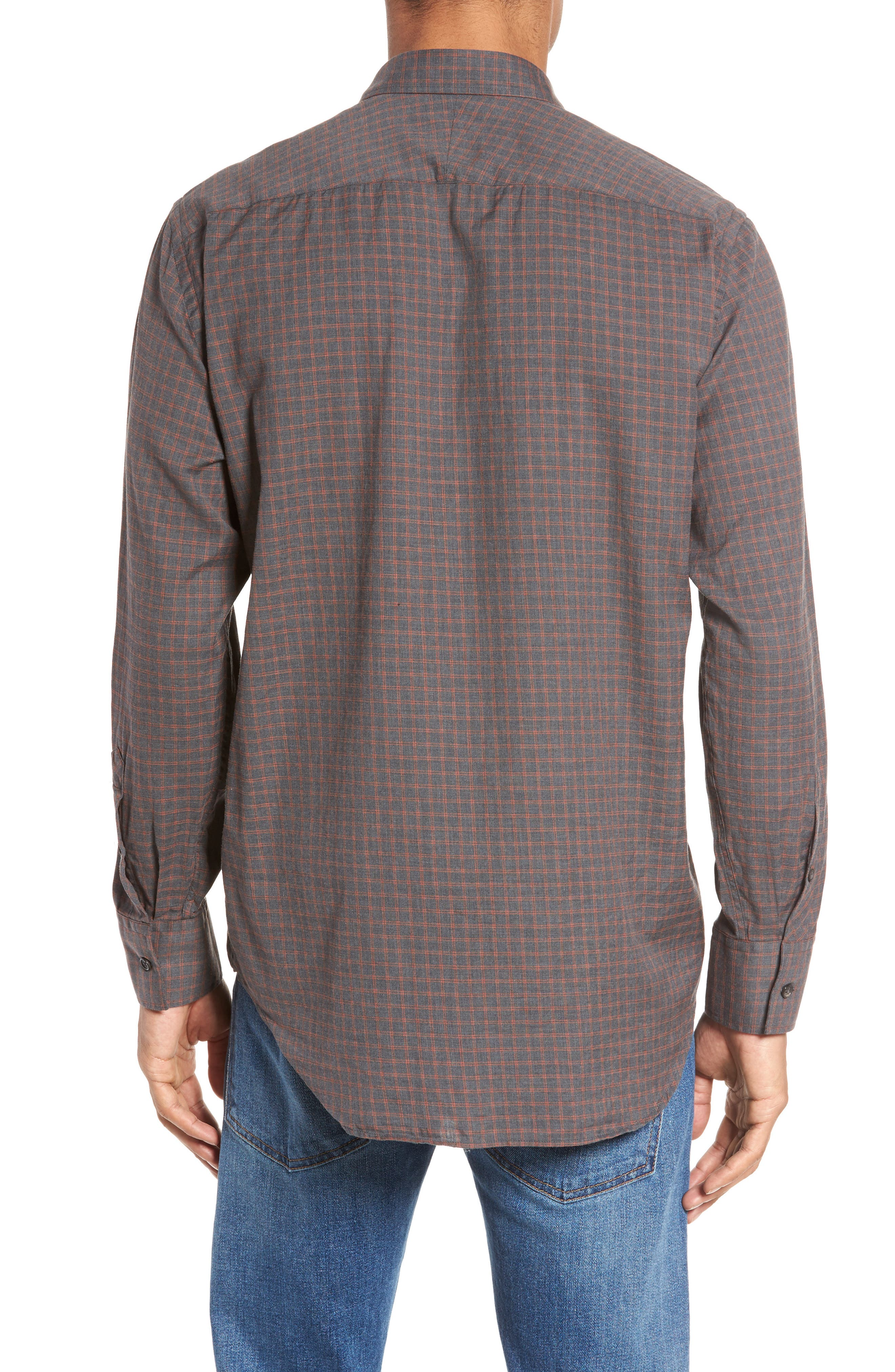Walland Standard Fit Check Sport Shirt,                             Alternate thumbnail 2, color,