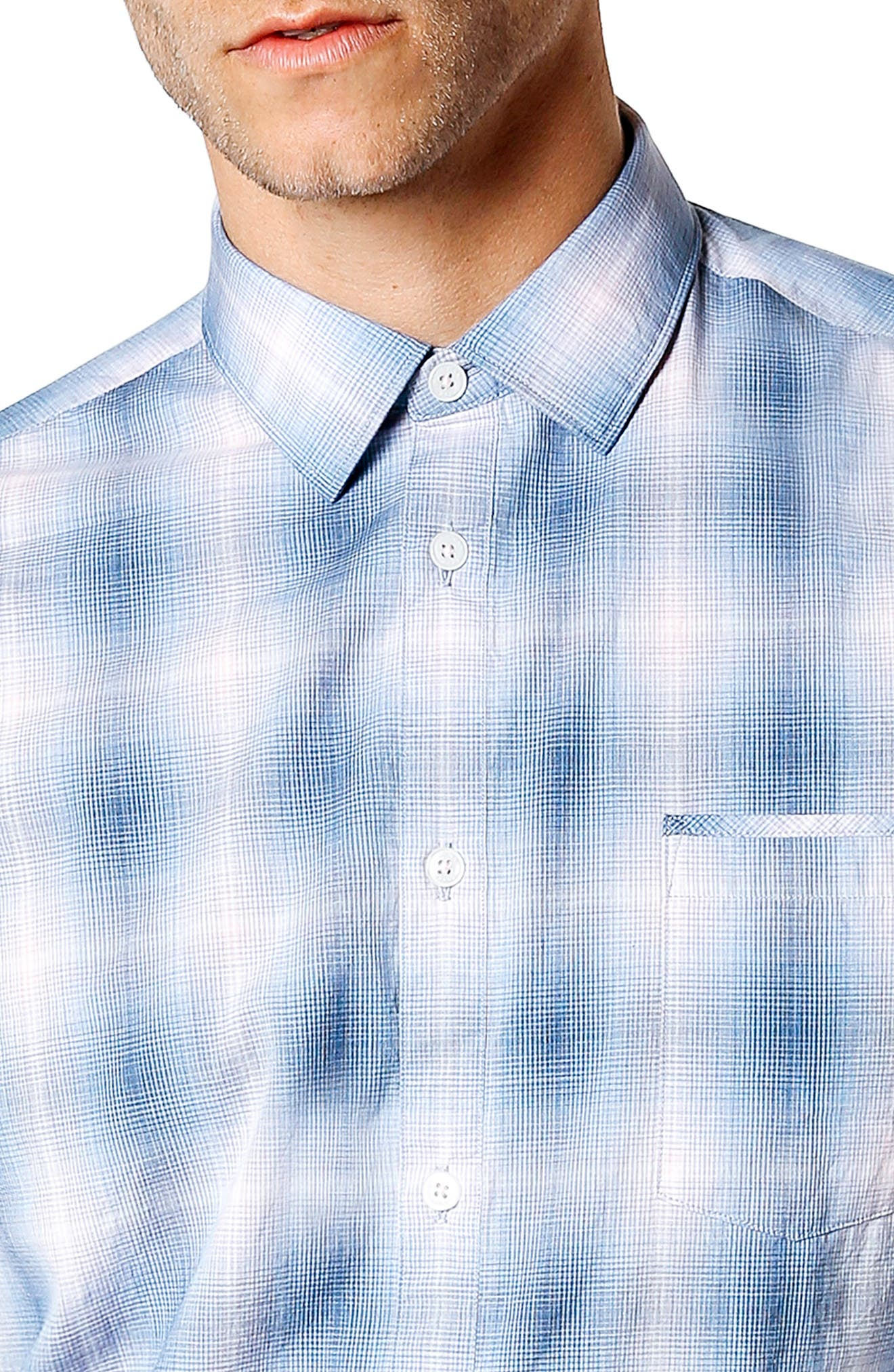 Sunset Slim Fit Sport Shirt,                             Alternate thumbnail 4, color,
