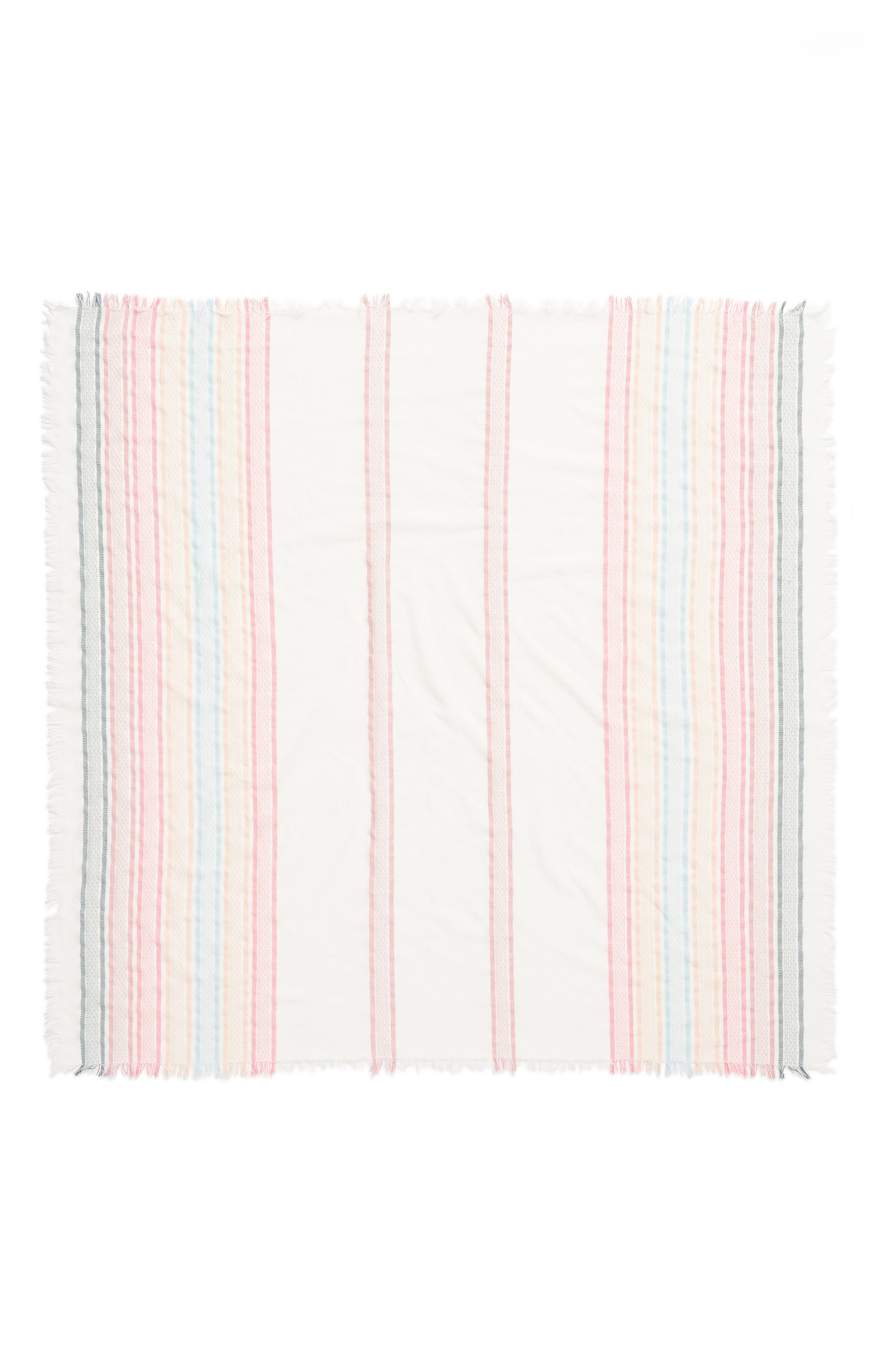 Textured Stripe Square Scarf,                             Alternate thumbnail 3, color,                             100