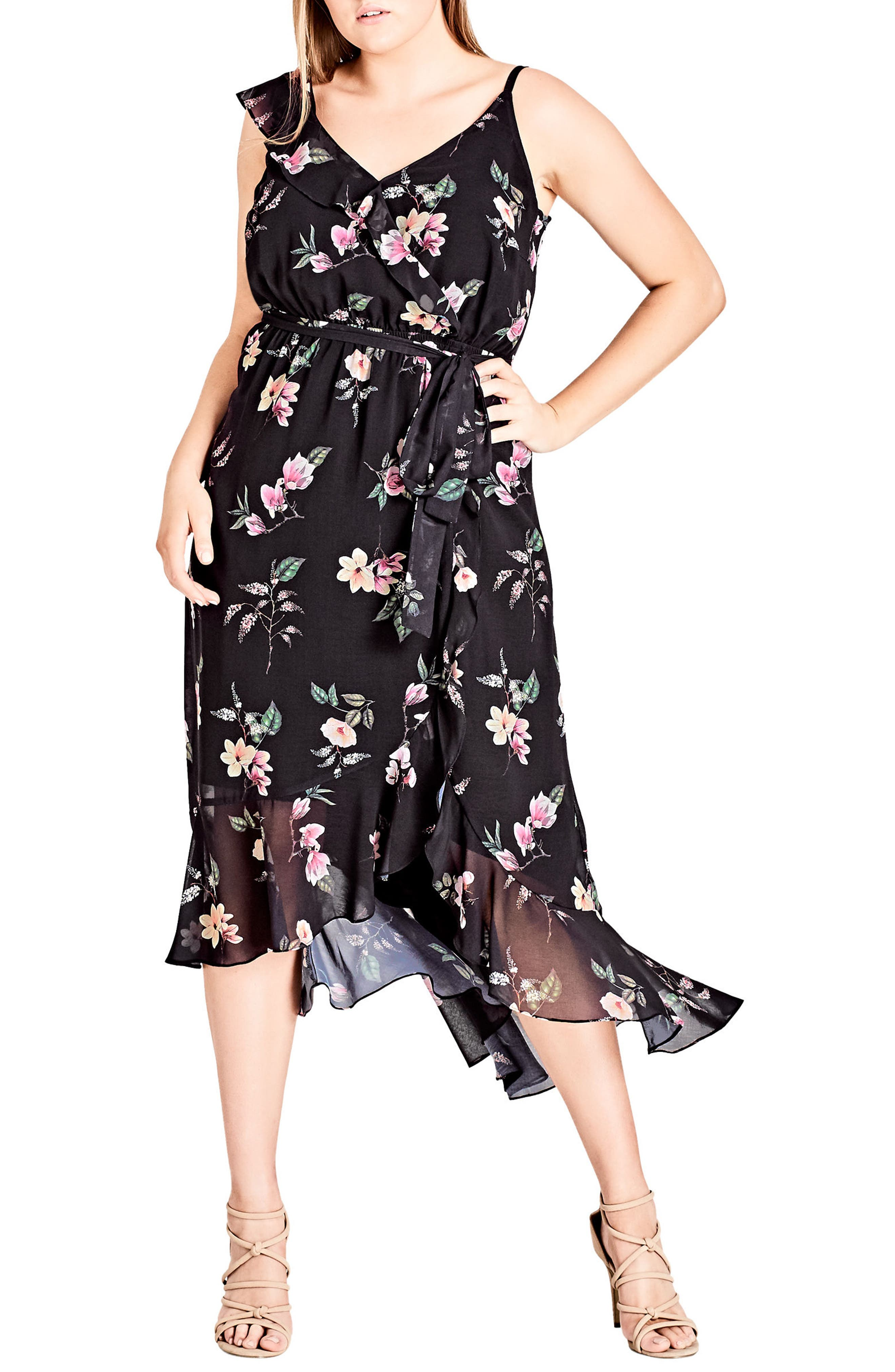 Captivate Floral Dress,                         Main,                         color, 001