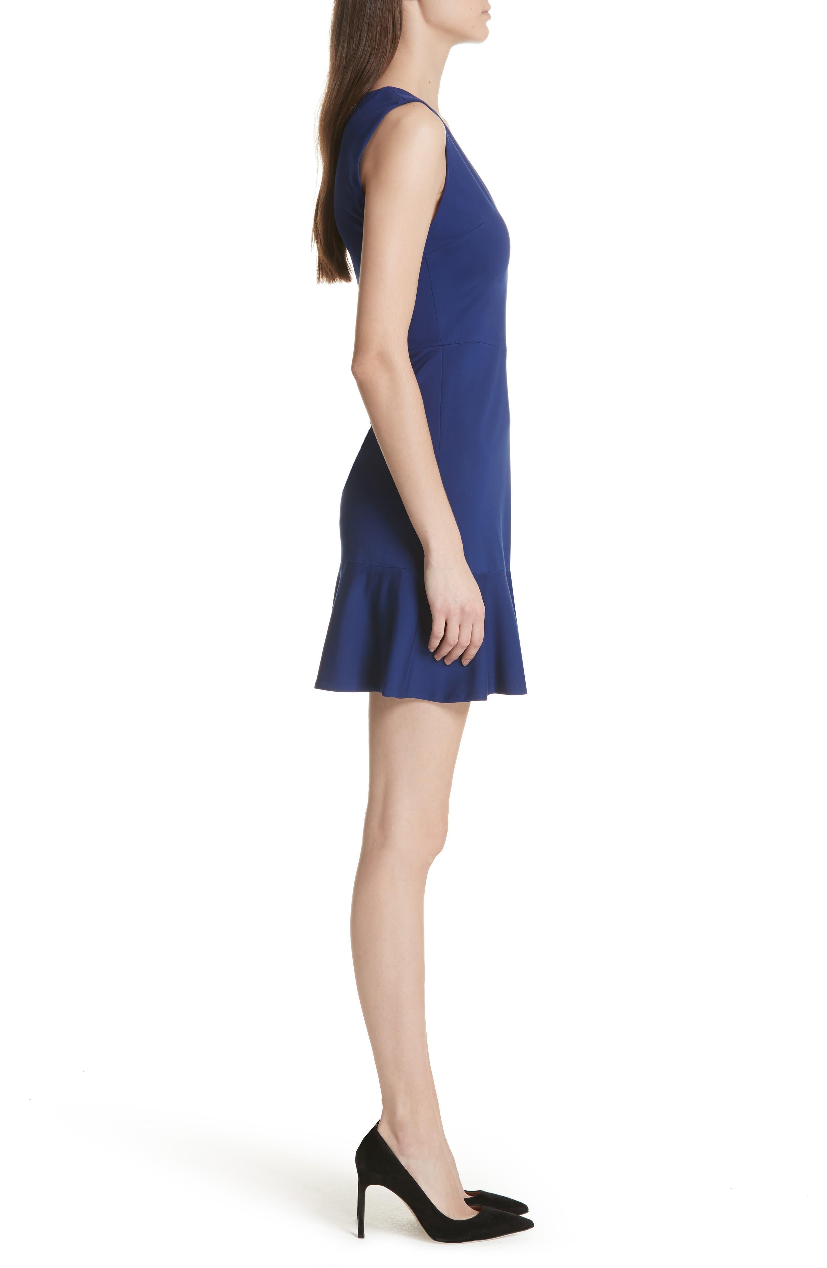 Onella Peplum Hem Fit & Flare Dress,                             Alternate thumbnail 3, color,                             460
