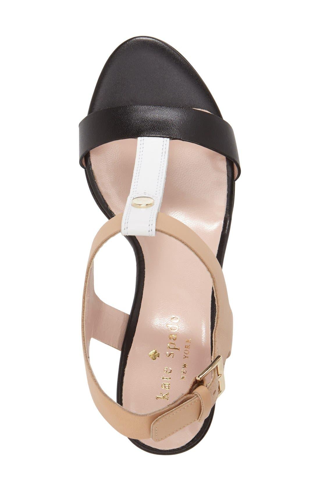 'addie' block heel t-strap sandal,                             Alternate thumbnail 2, color,                             003