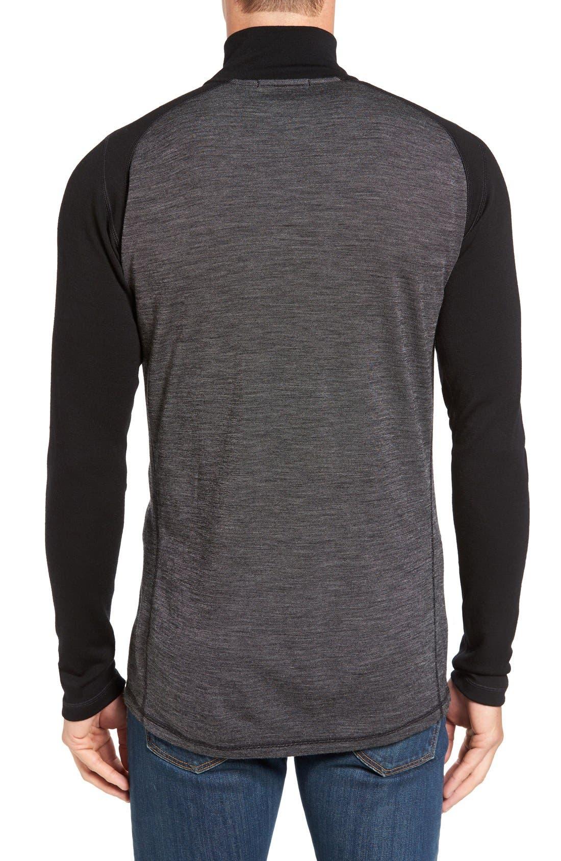 Merino 250 Base Layer Pattern Quarter Zip Pullover,                             Alternate thumbnail 5, color,