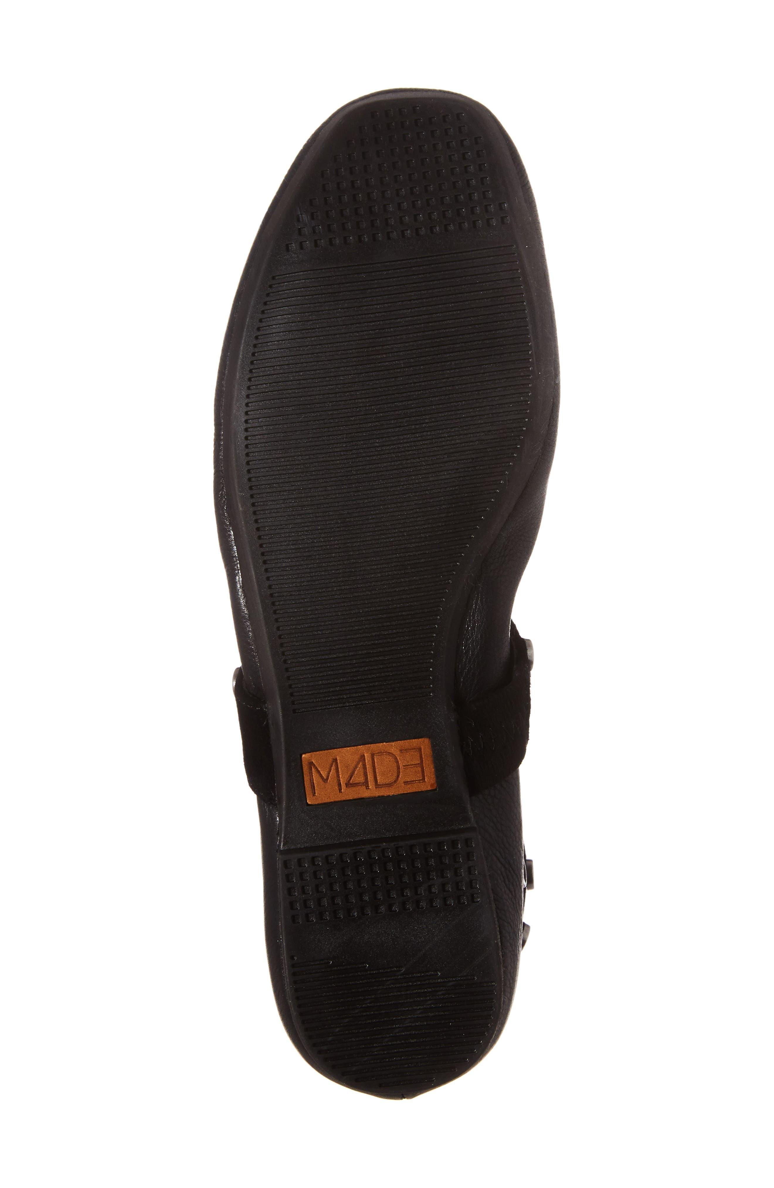 M4D3 Carla Wraparound Ankle Strap Flat,                             Alternate thumbnail 6, color,                             001