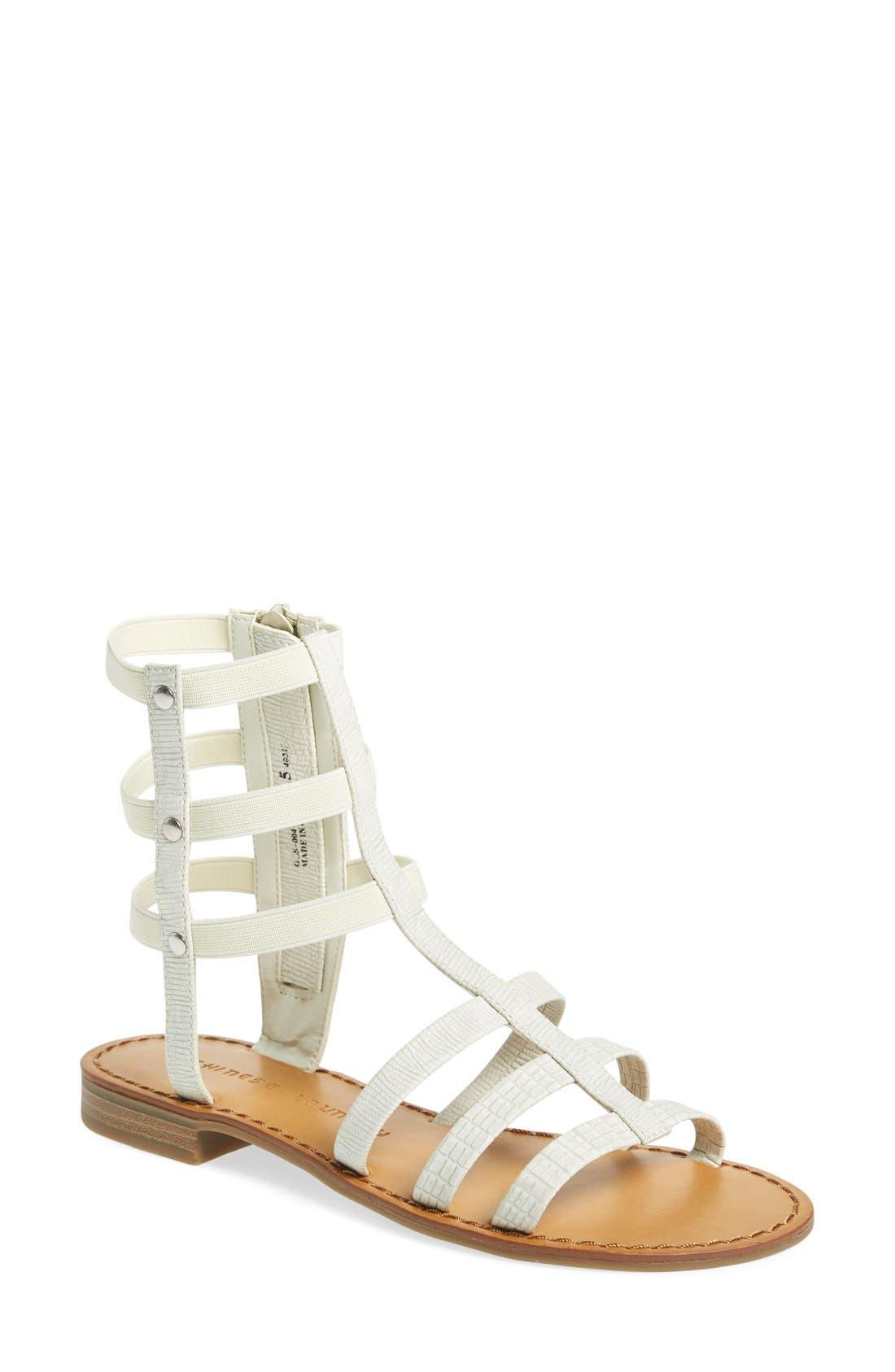 'Gemma' Gladiator Sandal,                         Main,                         color, 100