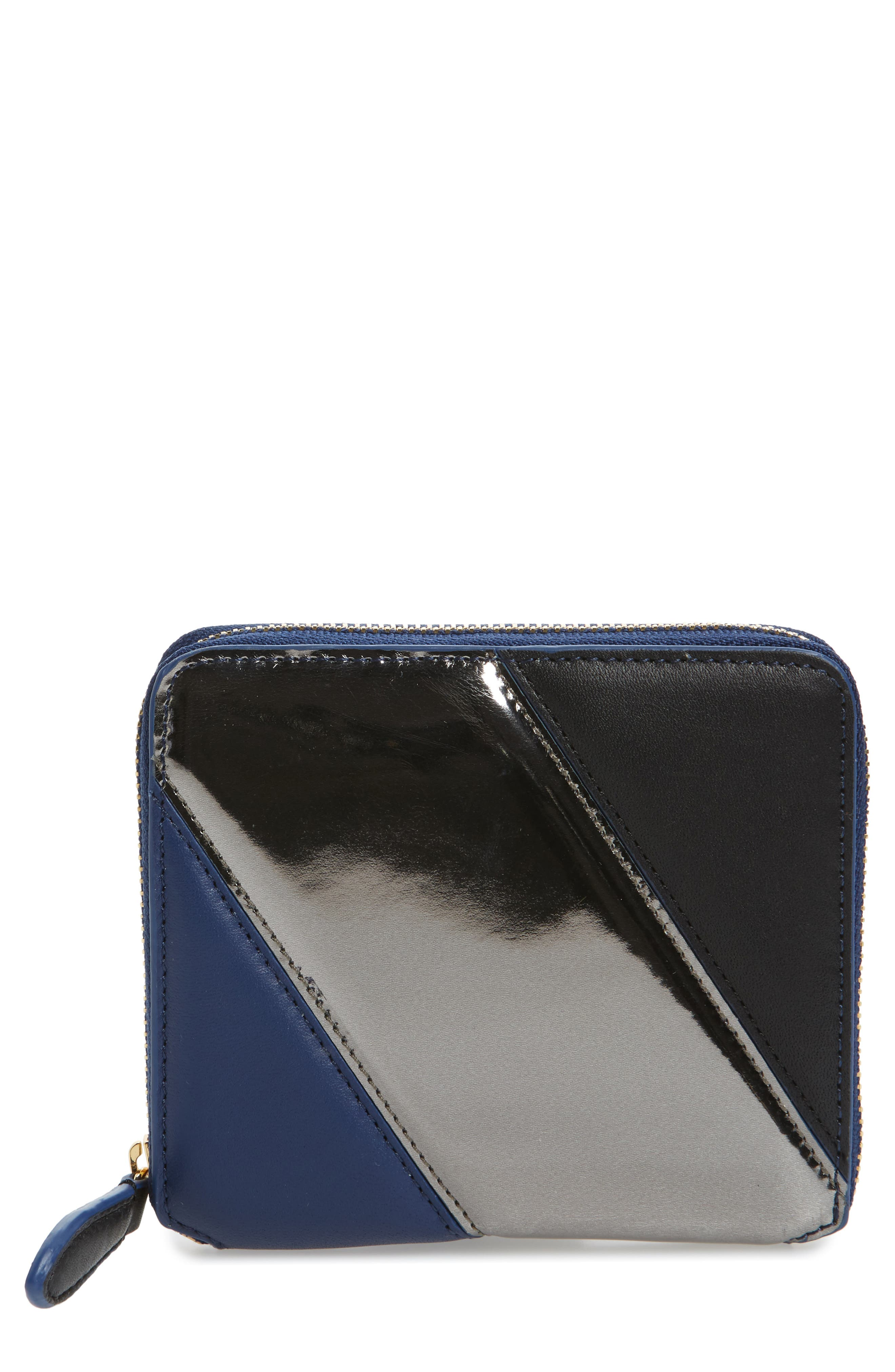 Small Za Leather Wallet,                         Main,                         color, 400