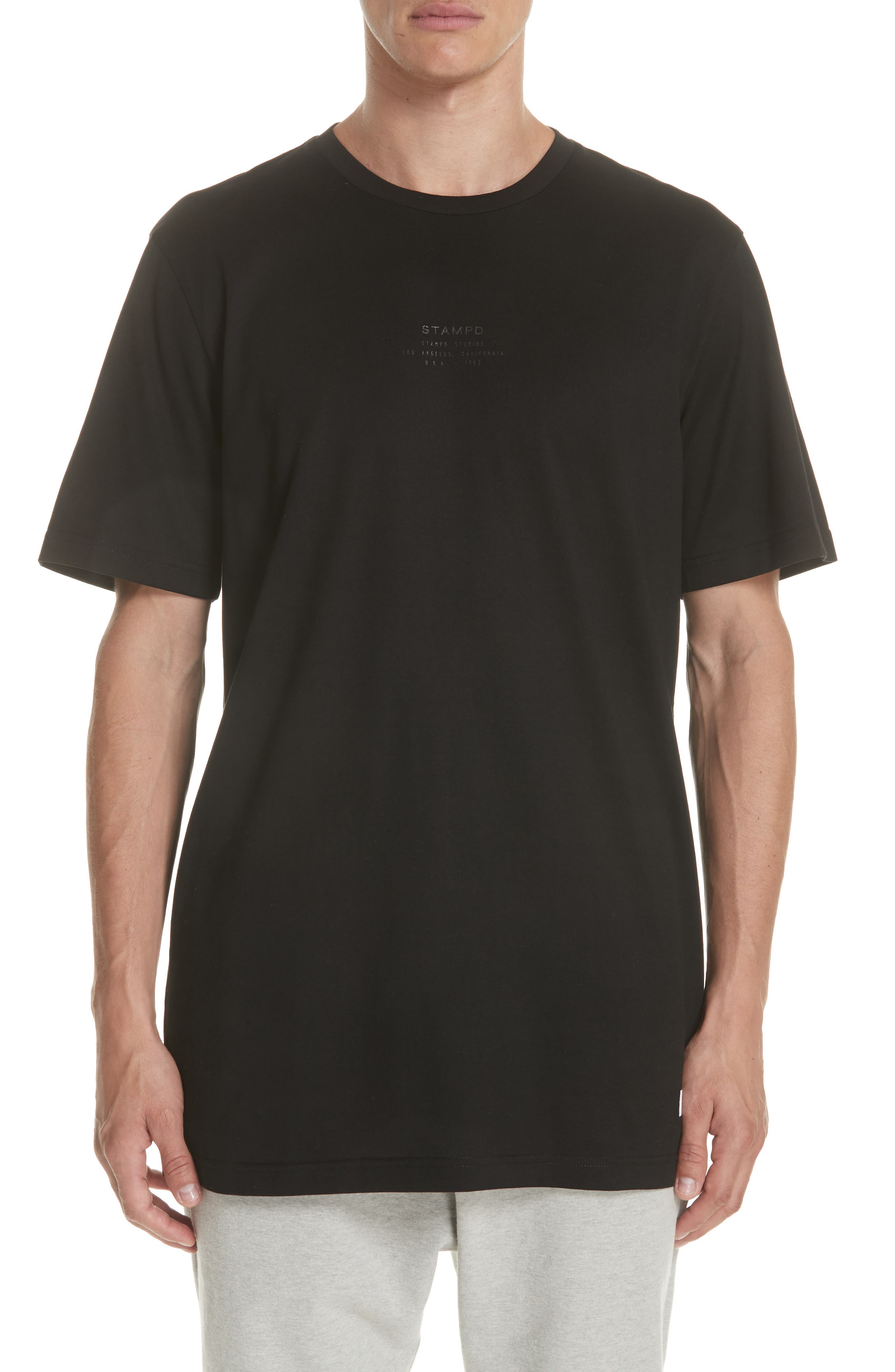 Core Scallop T-Shirt,                         Main,                         color, BLACK