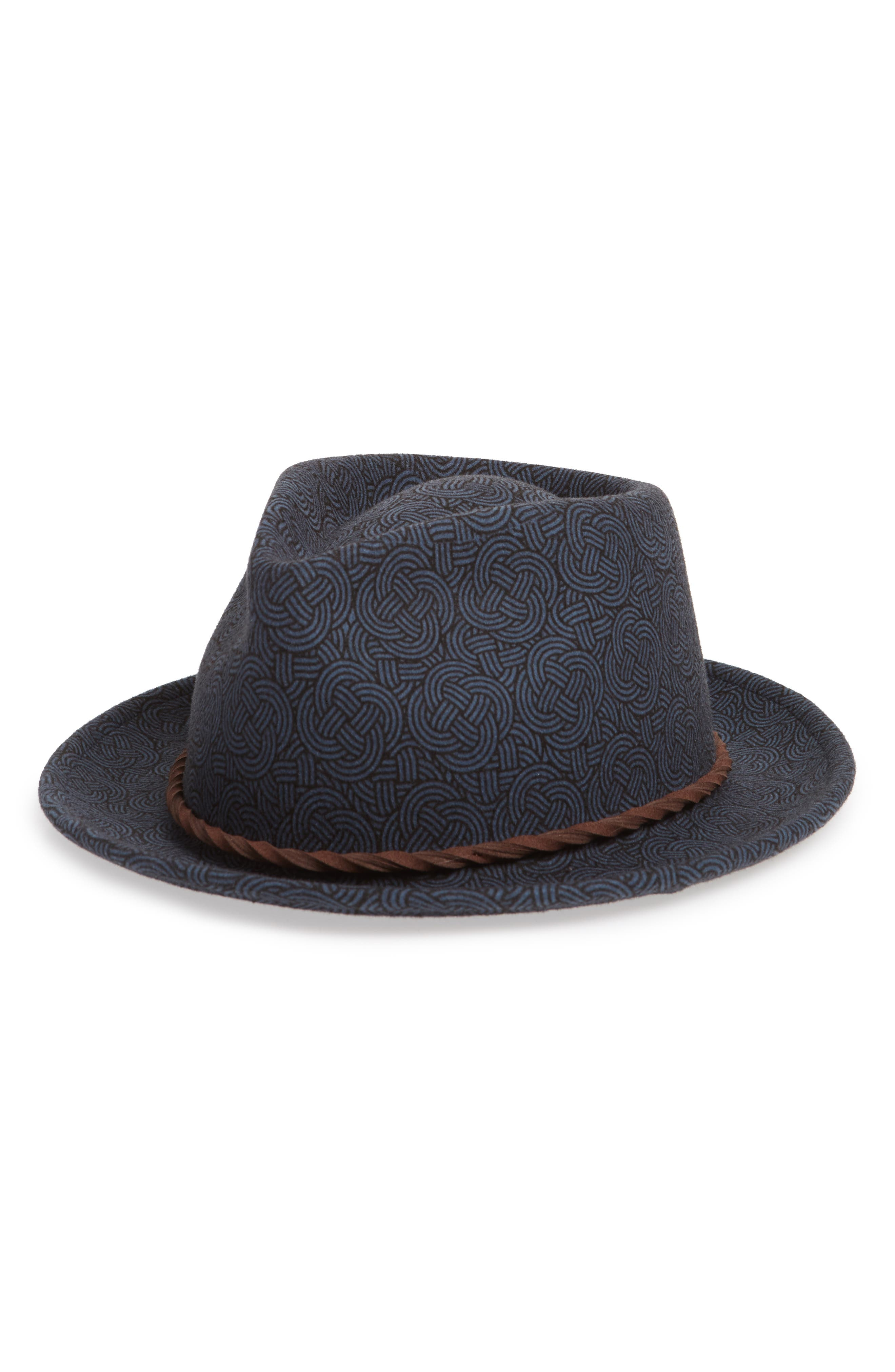 The Pacific Wool Fedora,                         Main,                         color, BLUE