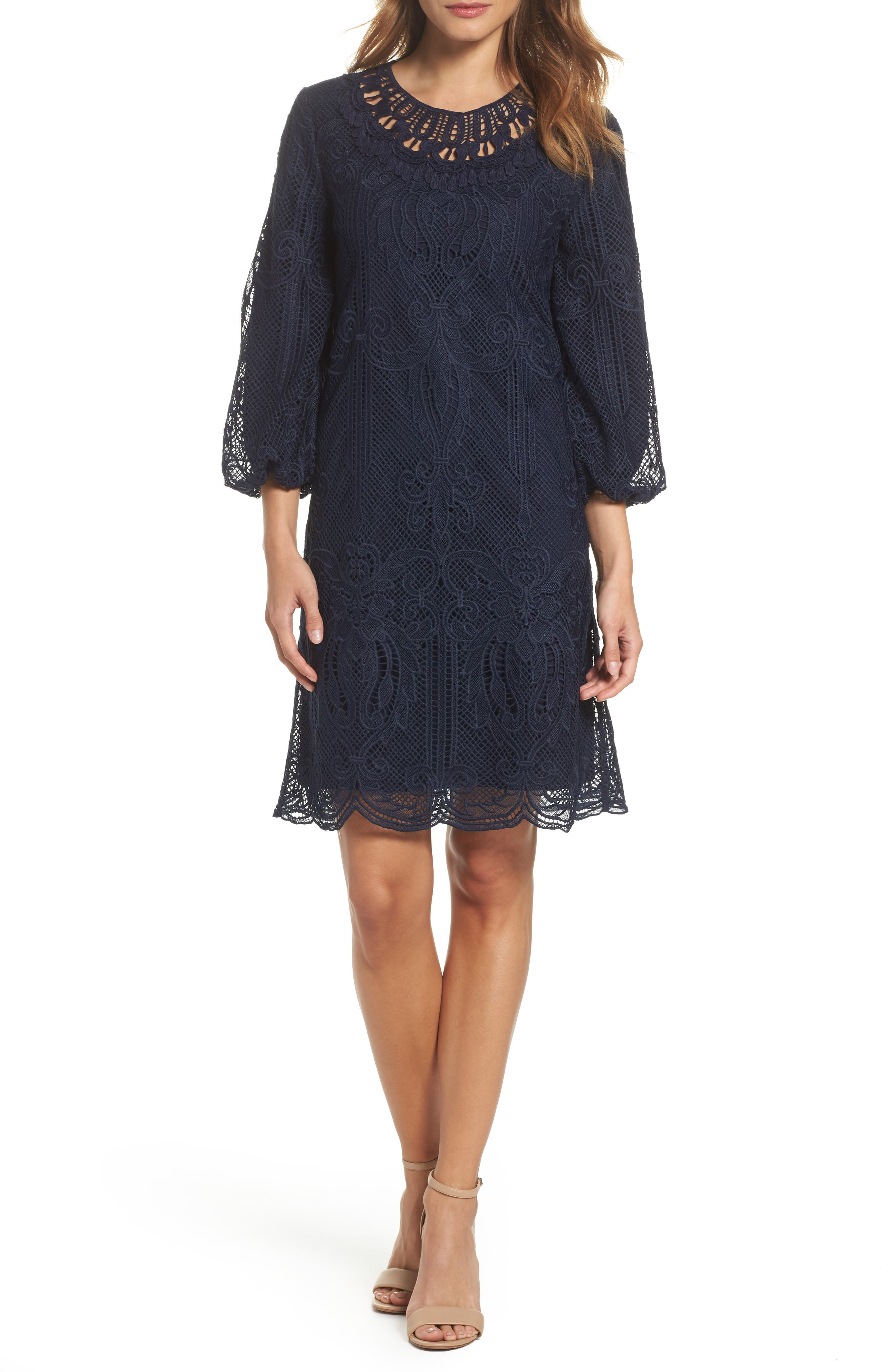 Kandace Lace Shift Dress,                             Main thumbnail 2, color,