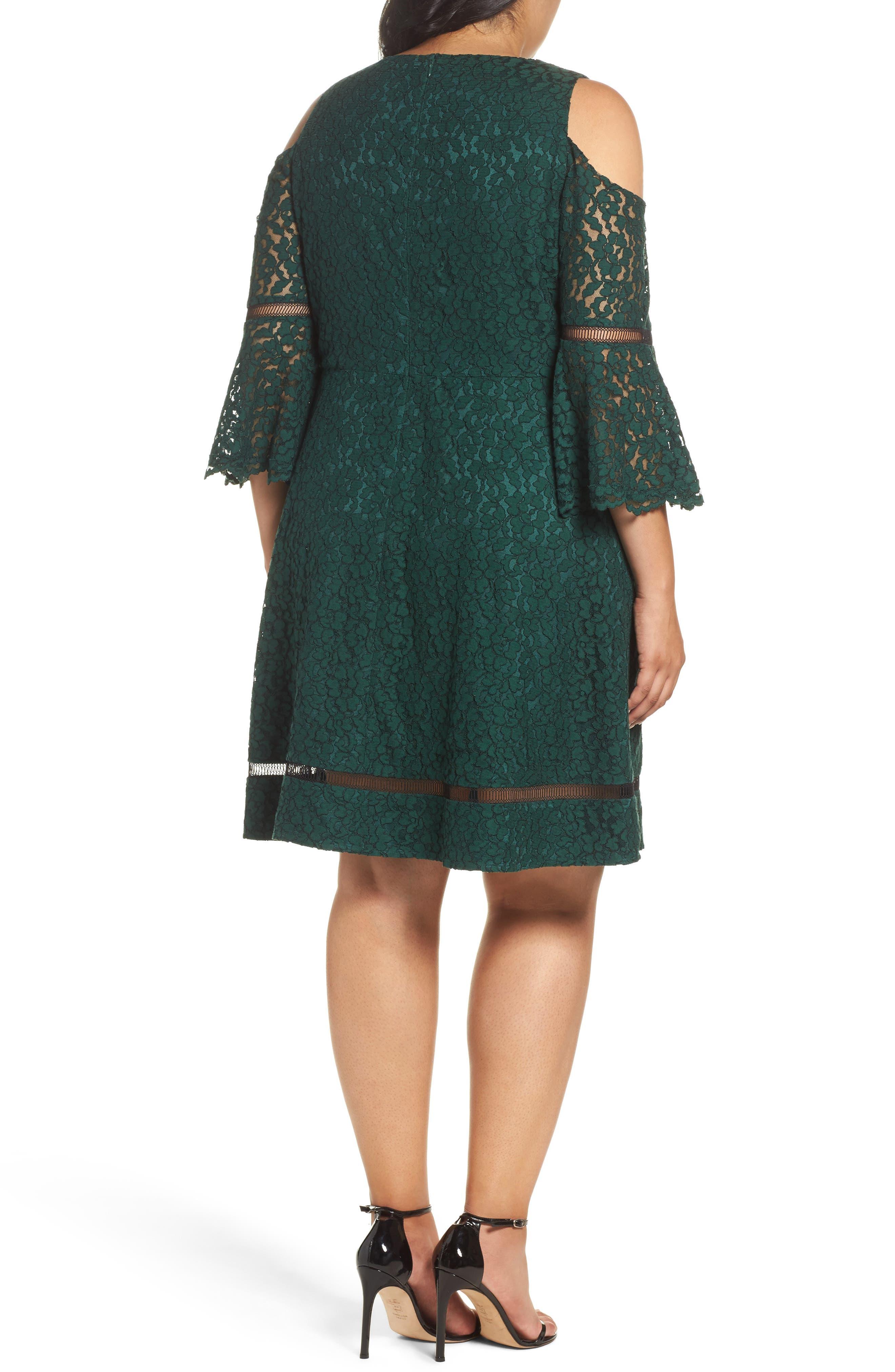 Cold Shoulder Lace Dress,                             Alternate thumbnail 2, color,                             310