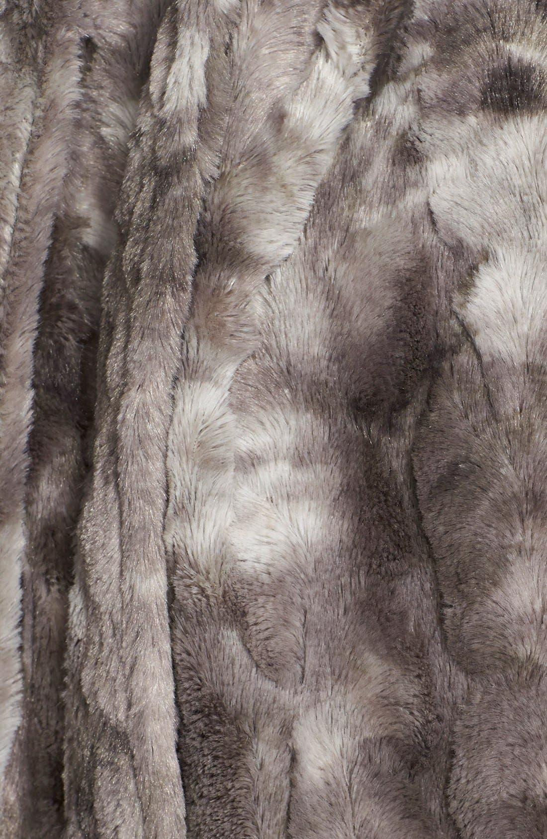 Faux Fur Robe,                             Alternate thumbnail 3, color,                             020