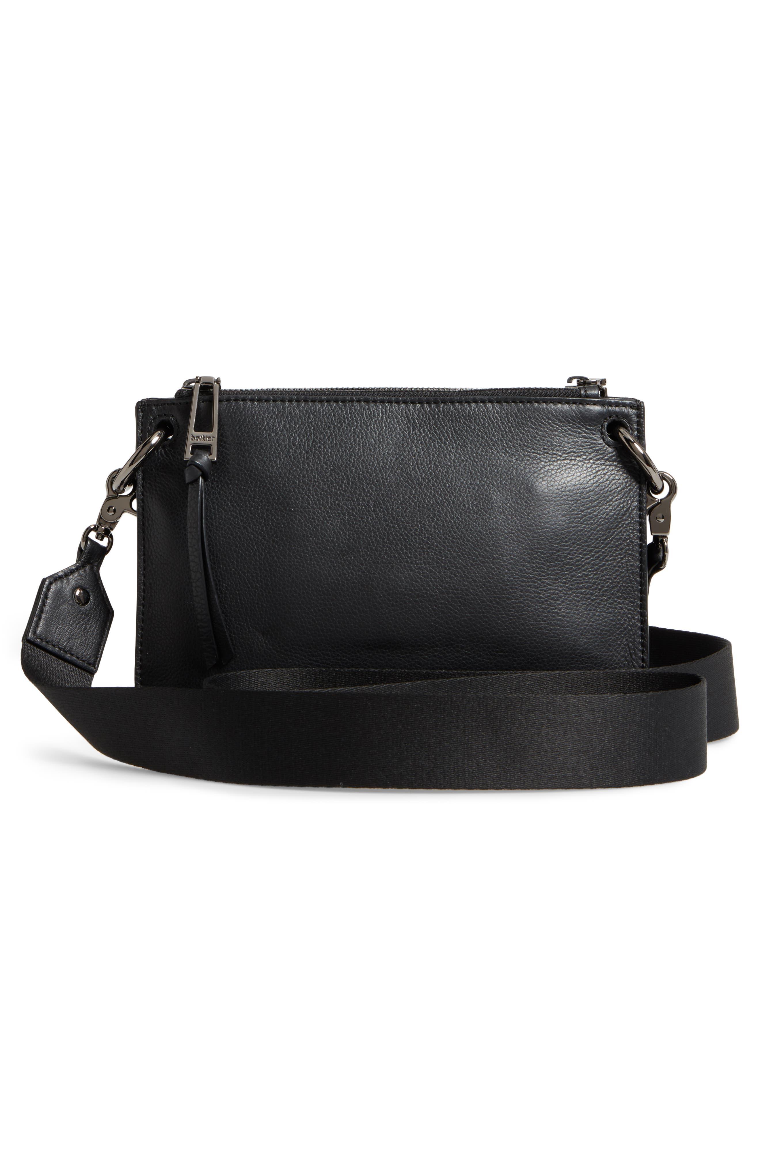 Bleeker Leather Double Shoulder Bag,                             Alternate thumbnail 13, color,