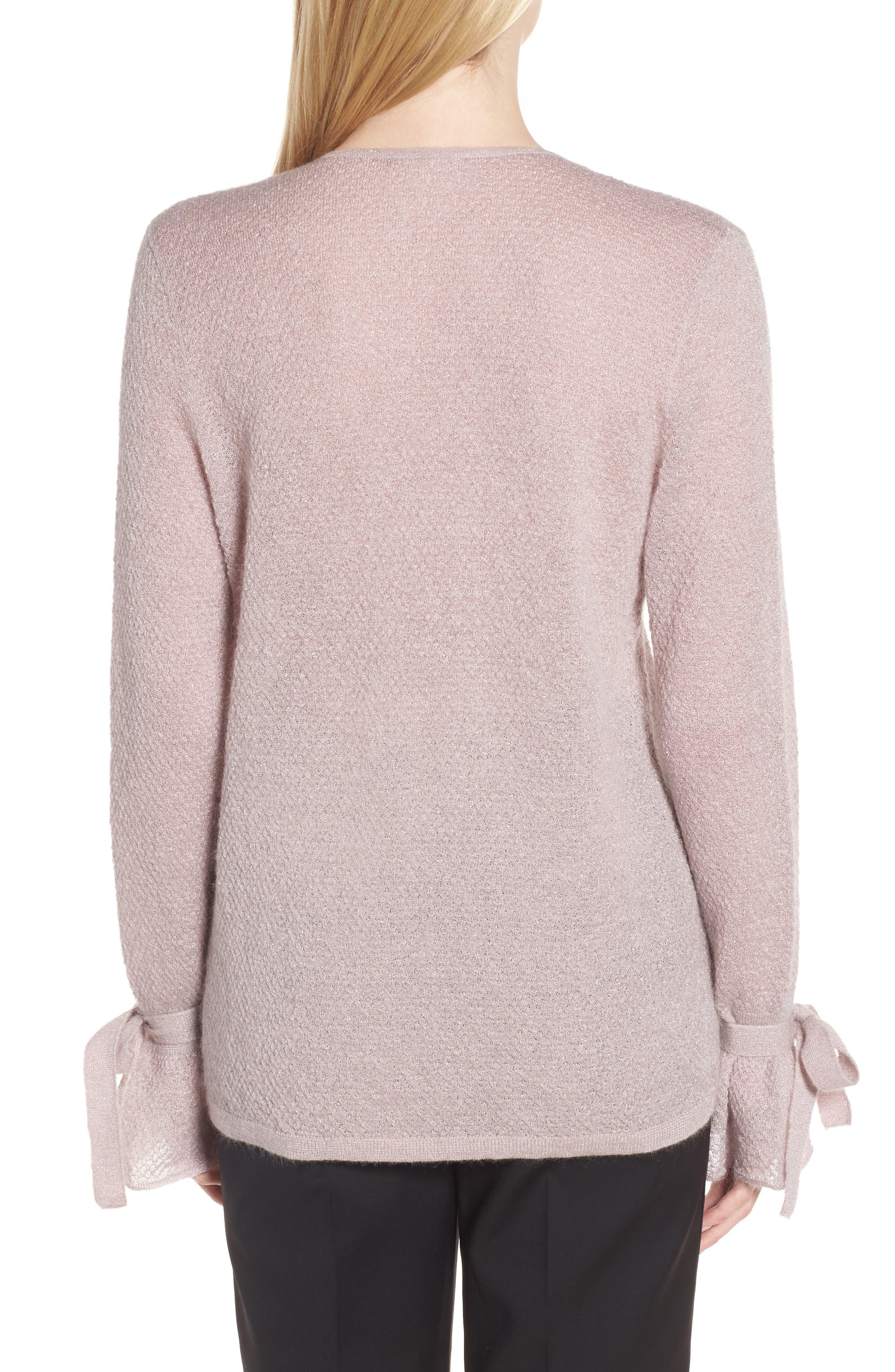 Metallic Mohair Blend Sweater,                             Alternate thumbnail 3, color,
