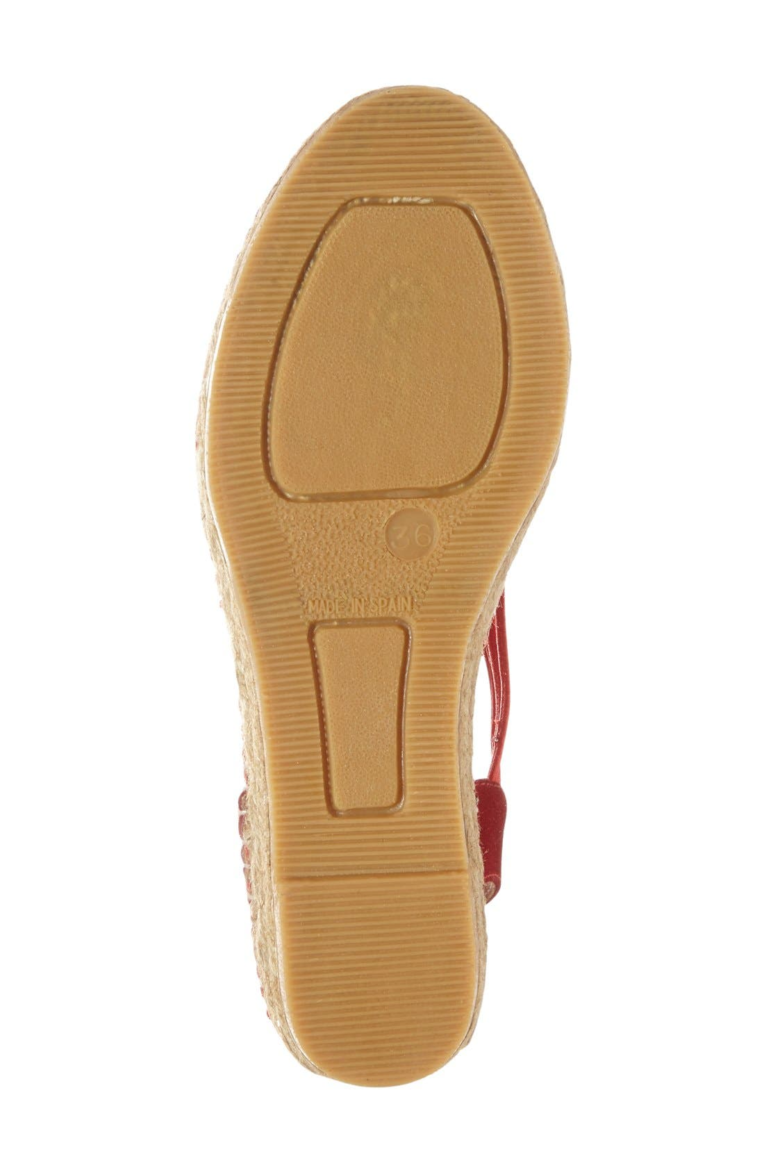 'Nuria' Suede Sandal,                             Alternate thumbnail 4, color,                             600