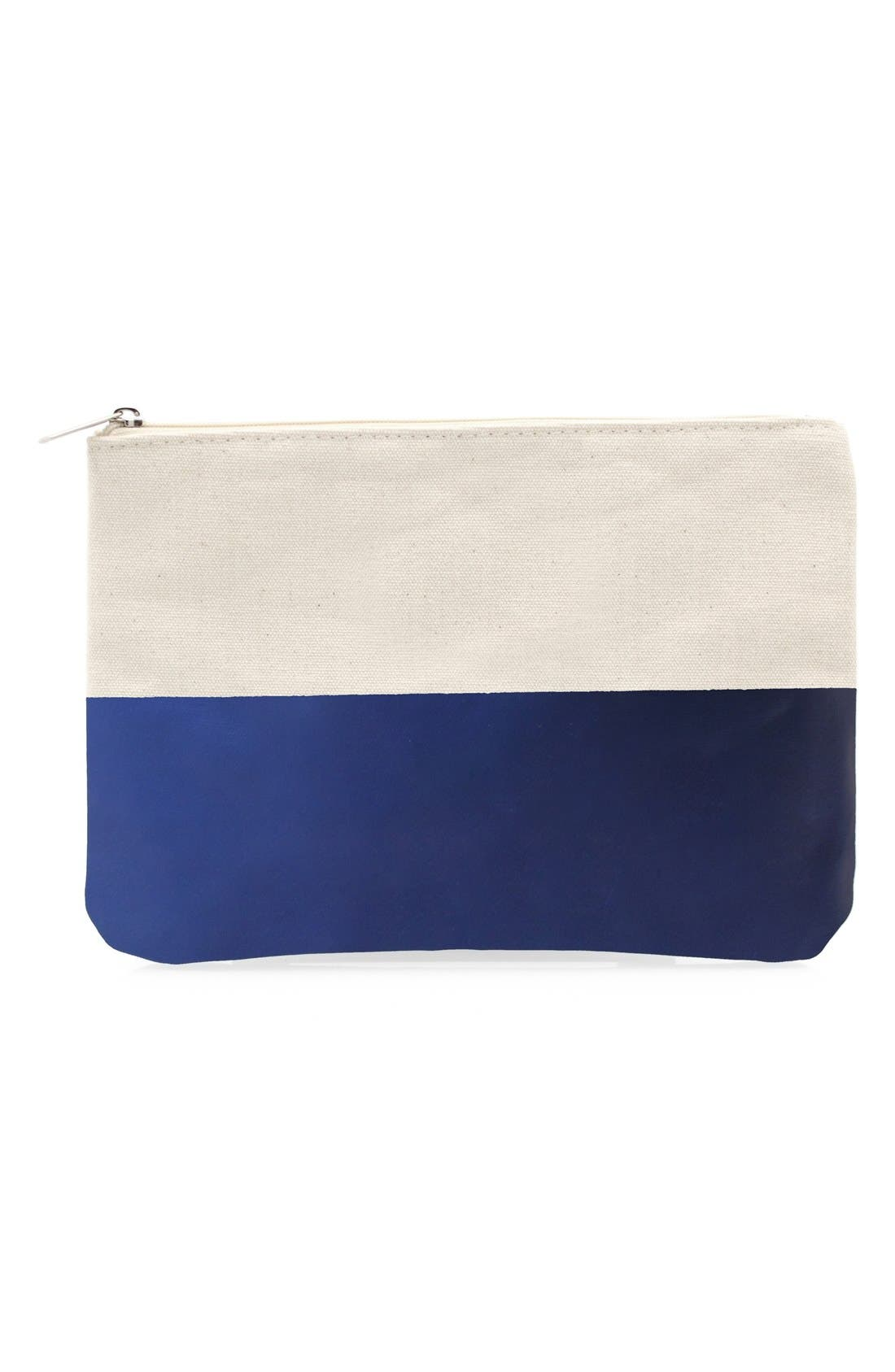 Personalized Canvas Clutch,                             Main thumbnail 1, color,                             400