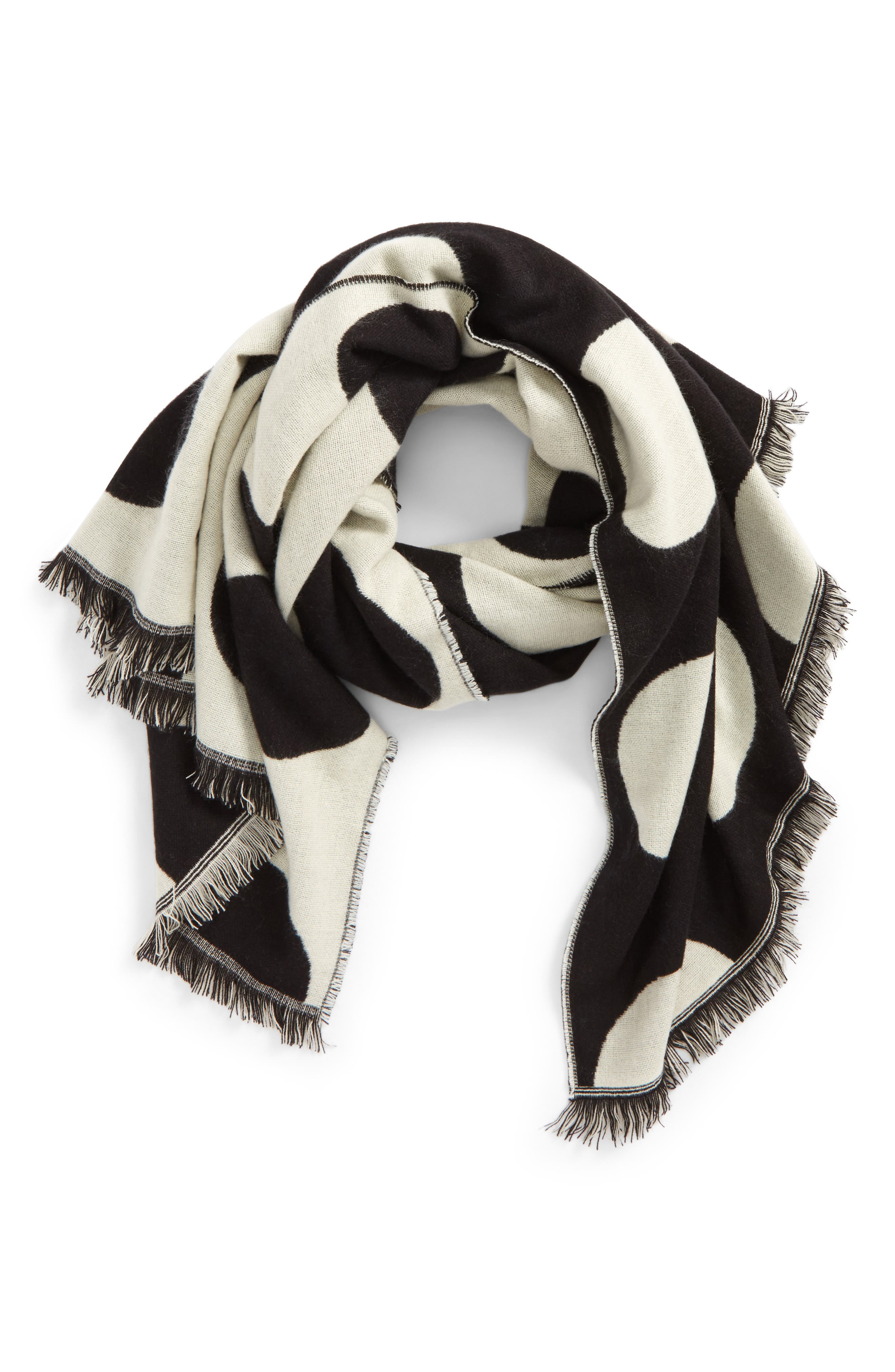 Oversize Dot Scarf,                         Main,                         color, 006
