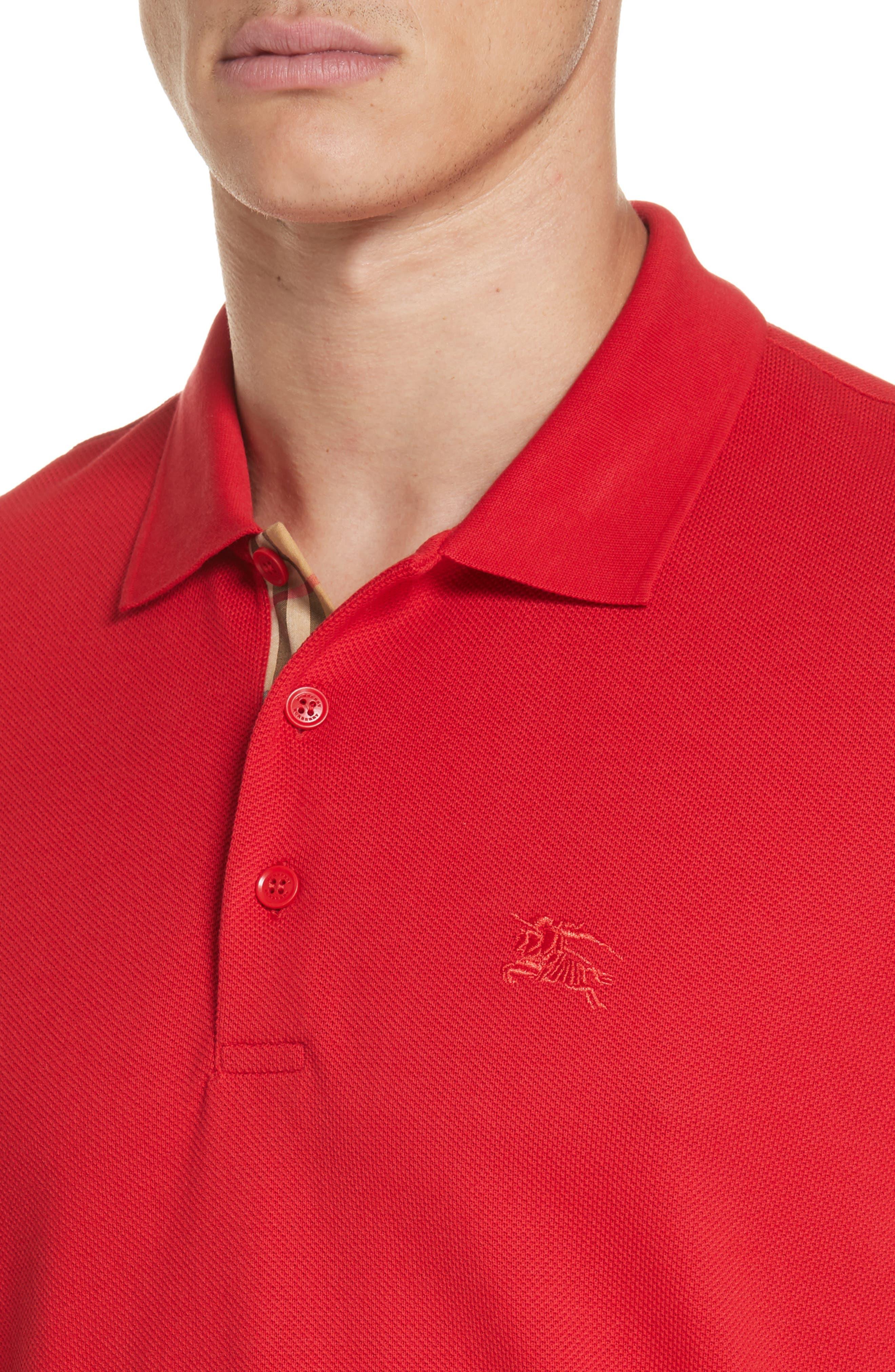 Hartford Piqué Polo,                             Alternate thumbnail 4, color,                             MILITARY RED