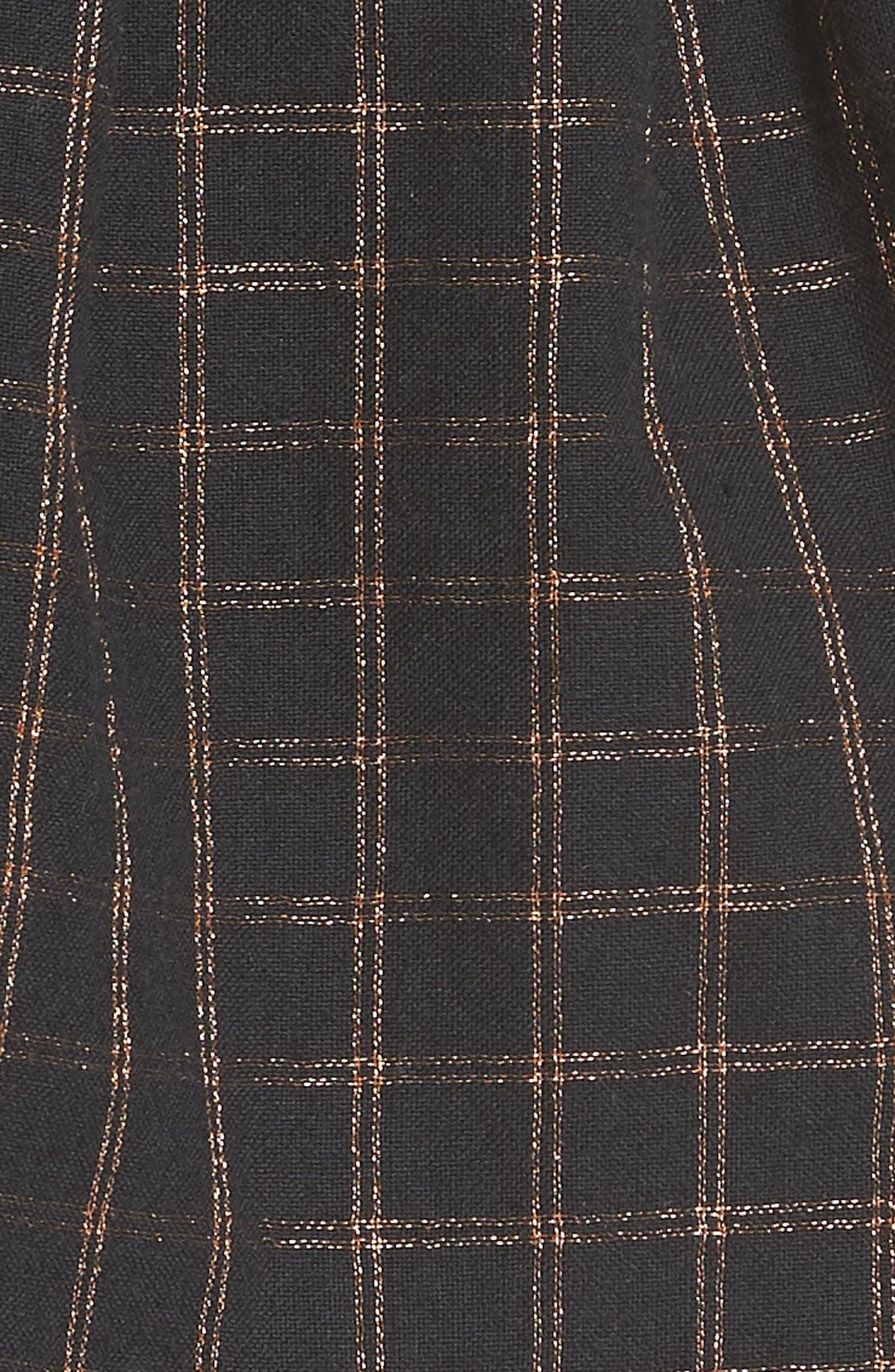 Sylvia Faux Wrap Mini Skirt,                             Alternate thumbnail 5, color,                             BLACK