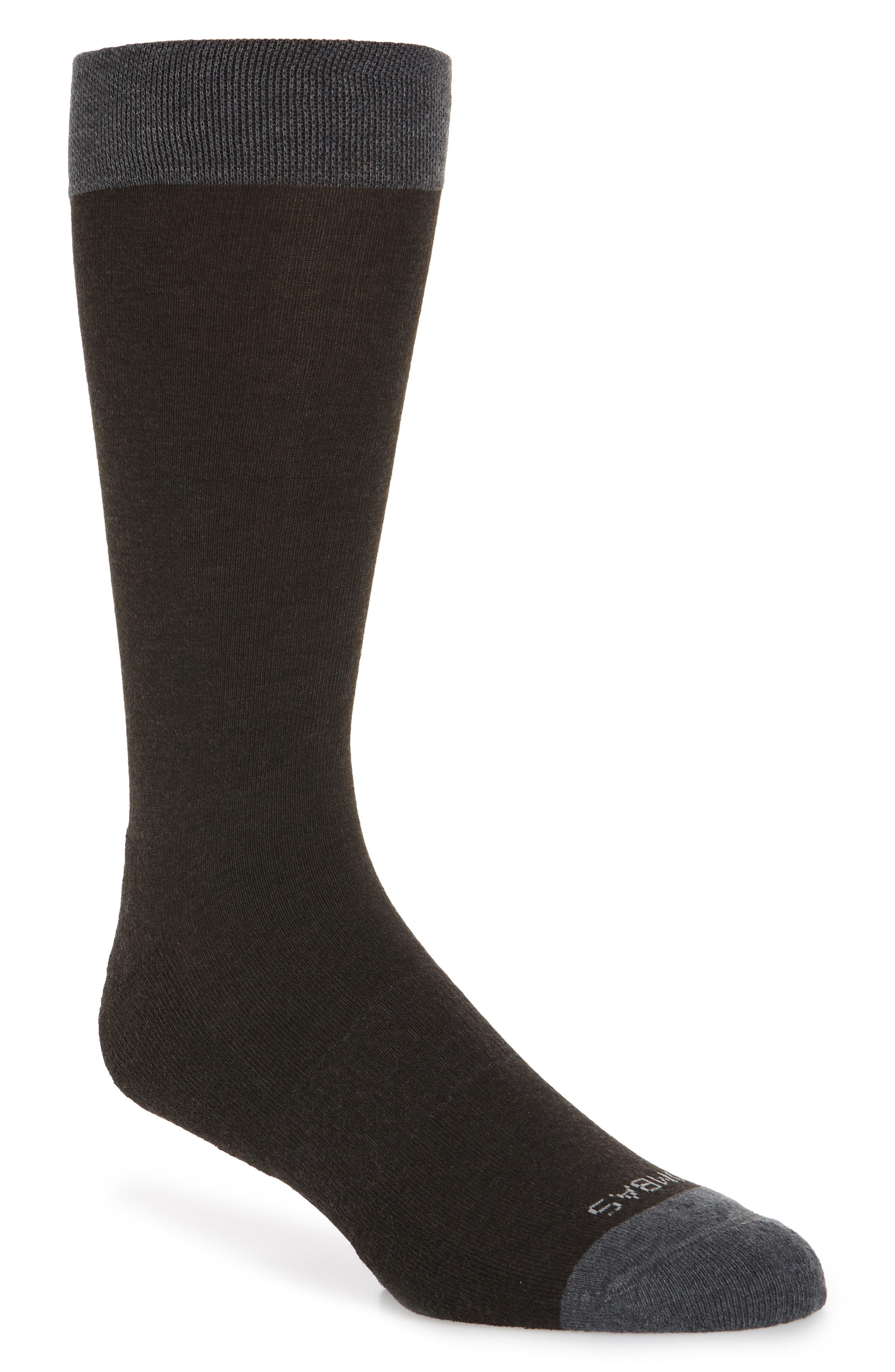 Solid Dress Socks,                         Main,                         color, CHARCOAL