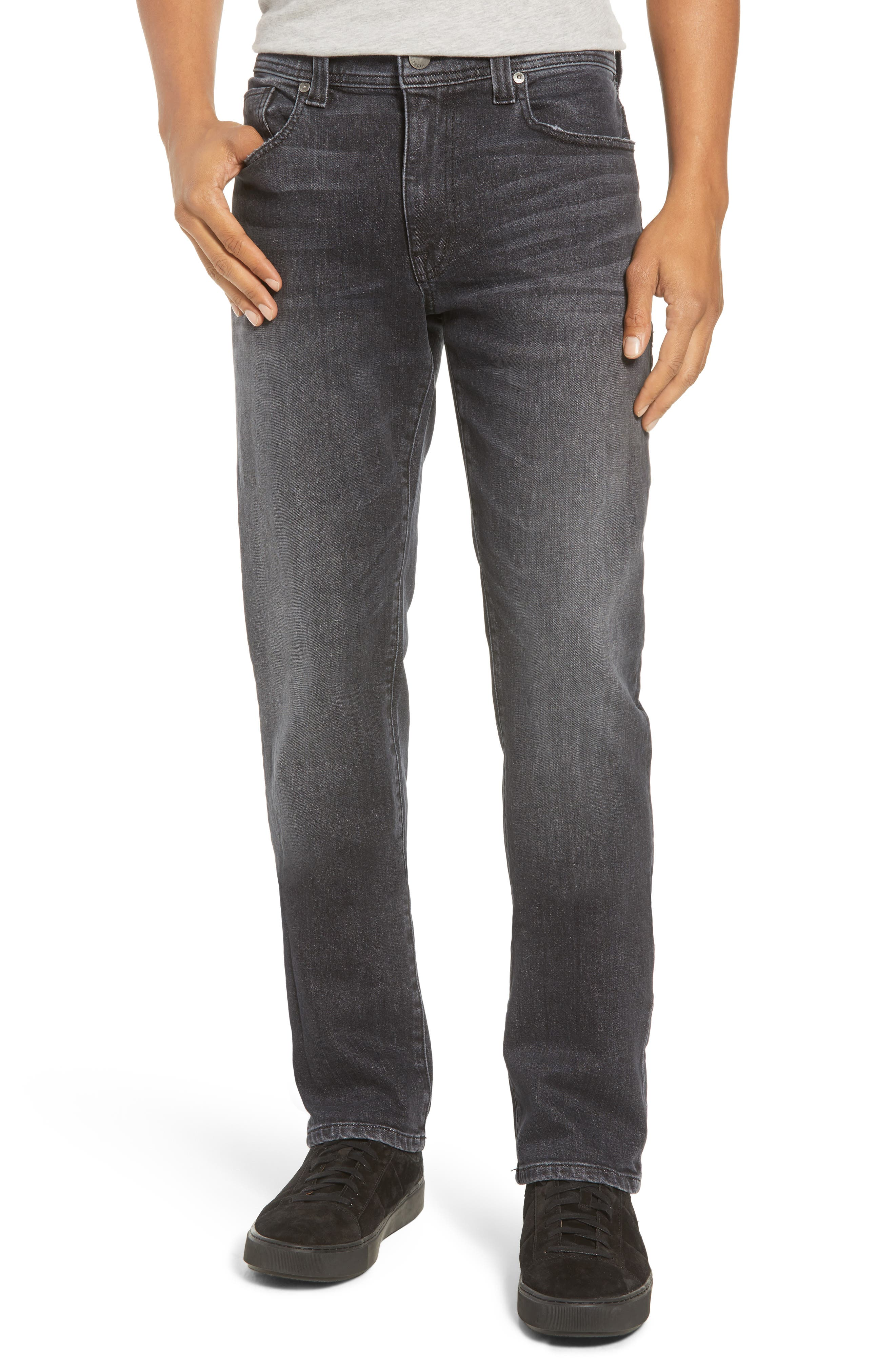 Jimmy Slim Straight Leg Jeans,                             Main thumbnail 1, color,                             RAVEN VINTAGE
