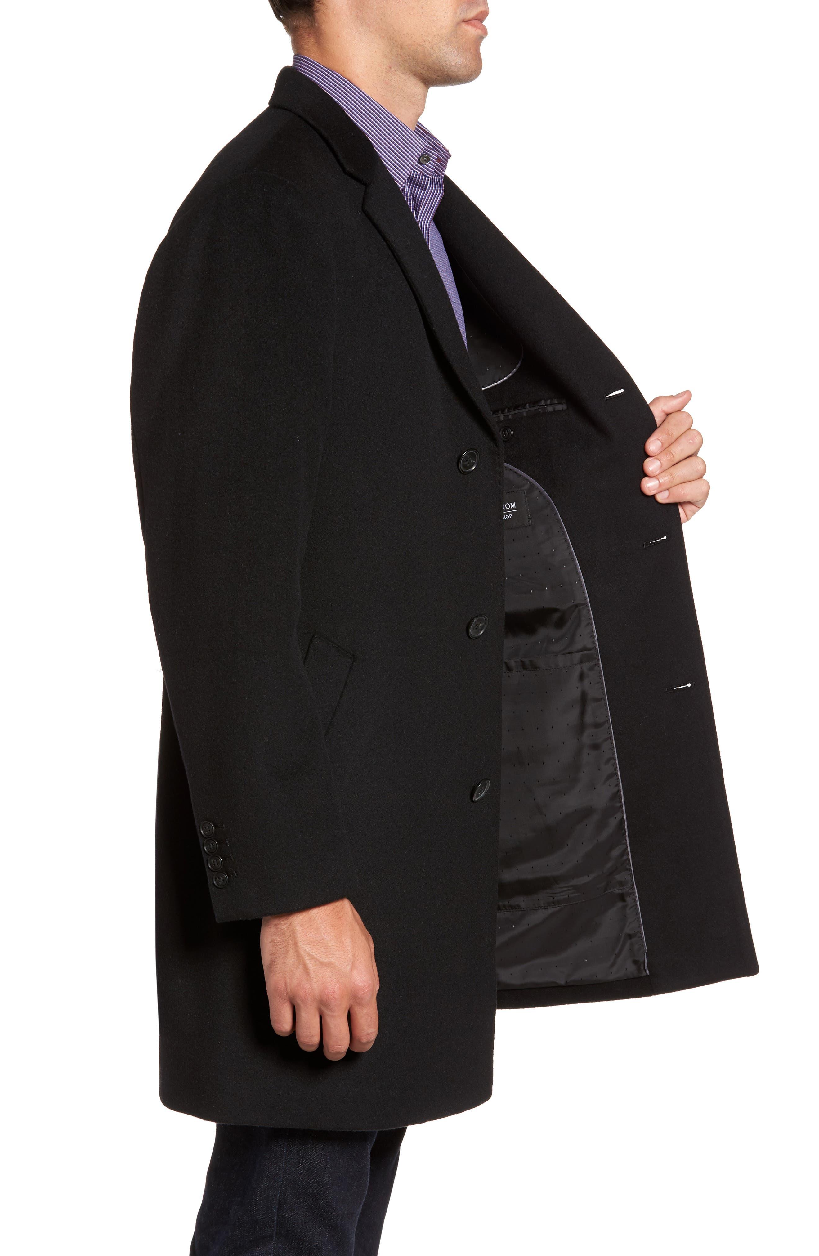 Mason Wool & Cashmere Overcoat,                             Alternate thumbnail 3, color,                             001