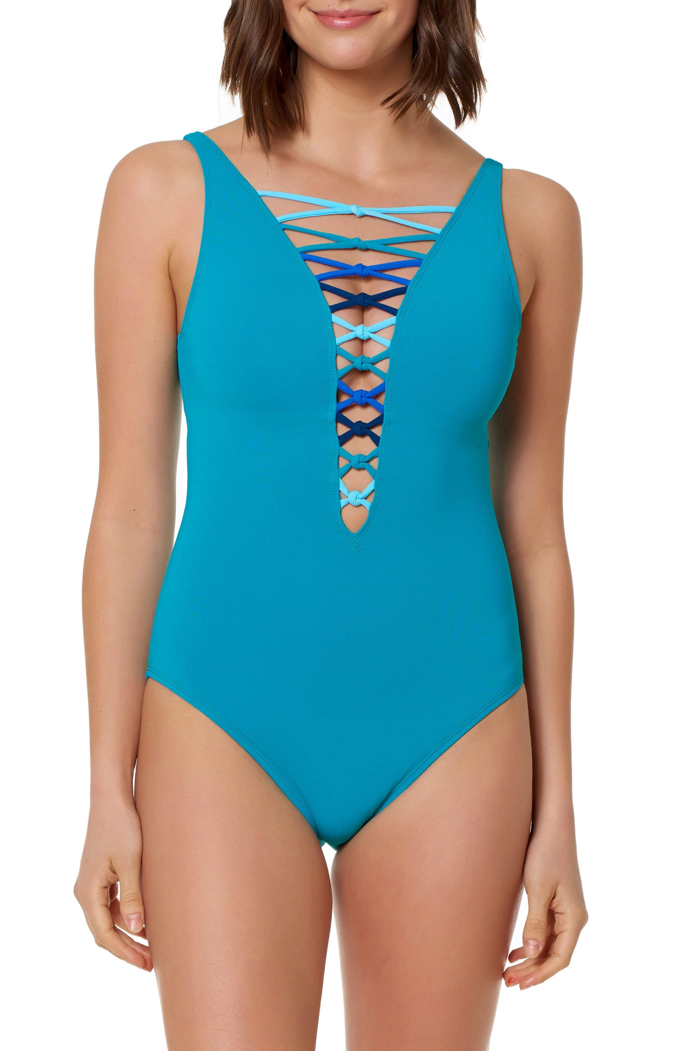 BLEU ROD BEATTIE Bleu By Rod Beattie One-Piece Swimsuit in Sea Dive/ Multi