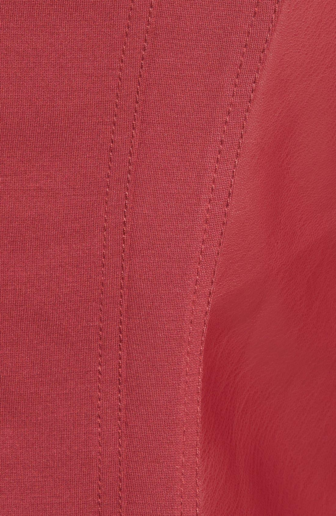 'Ana' Faux Leather Drape Front Jacket,                             Alternate thumbnail 15, color,