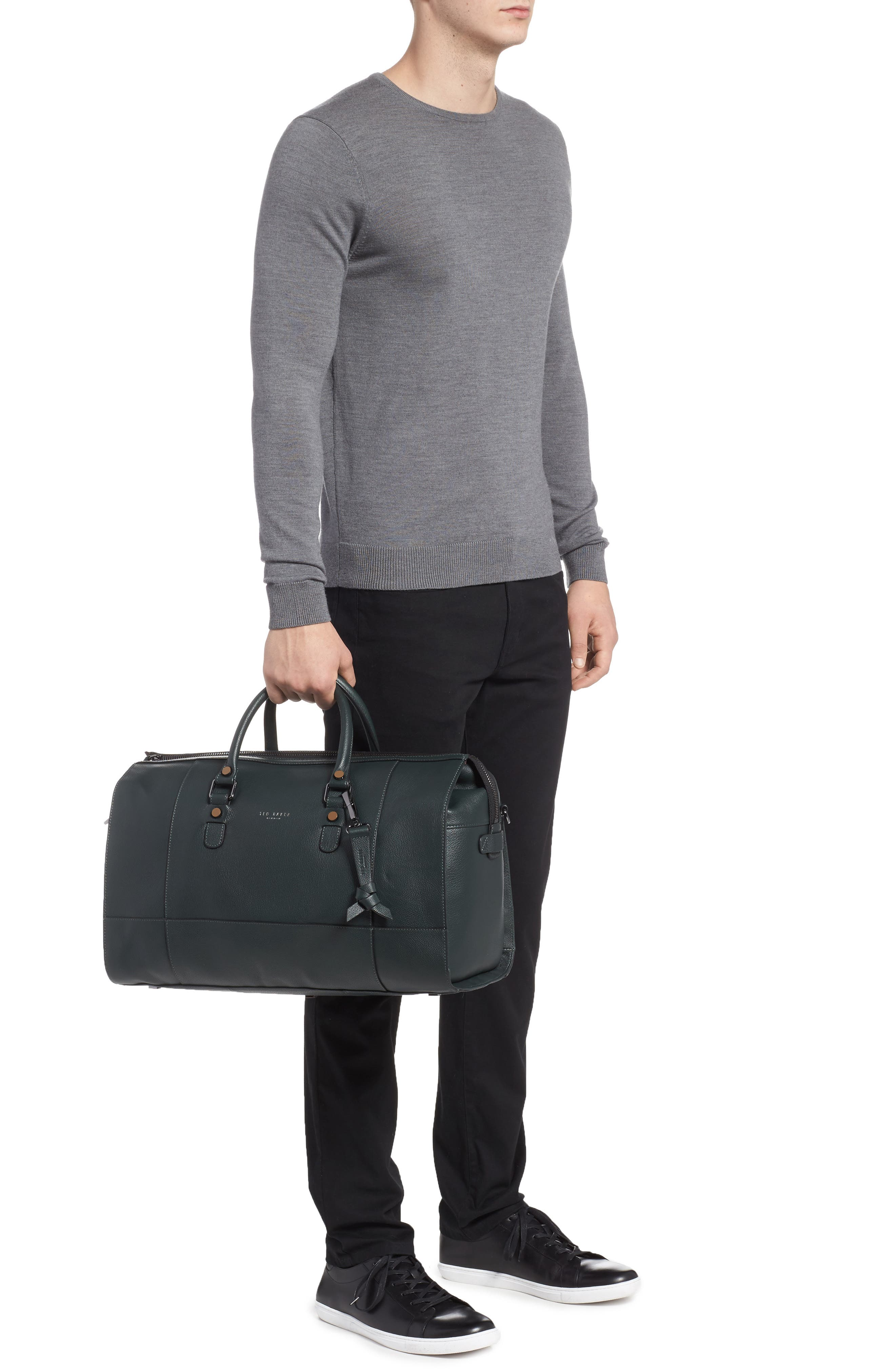 Panthea Leather Duffel Bag,                             Alternate thumbnail 2, color,                             301