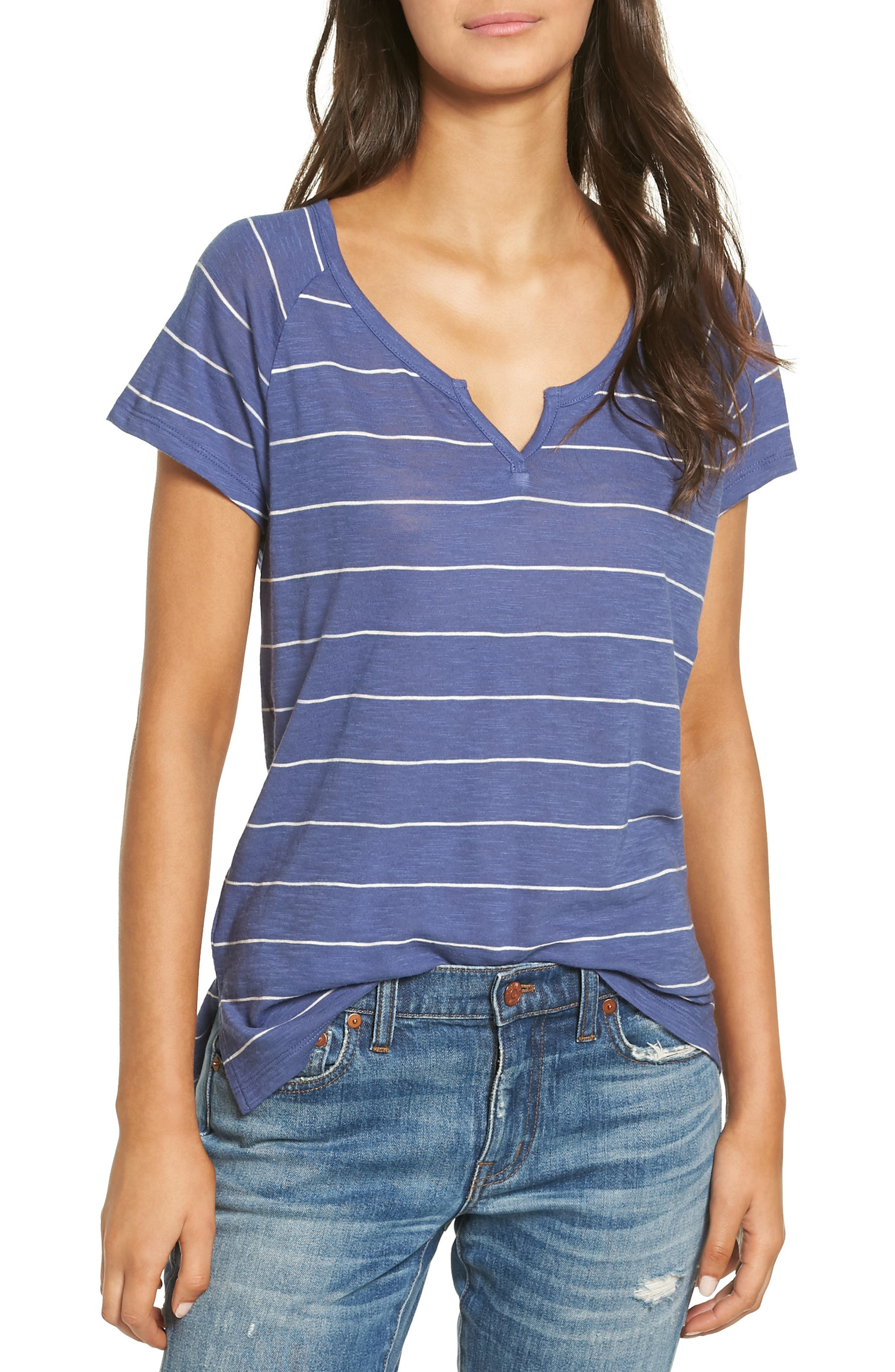 MADEWELL Choral Split Neck Tee, Main, color, 400