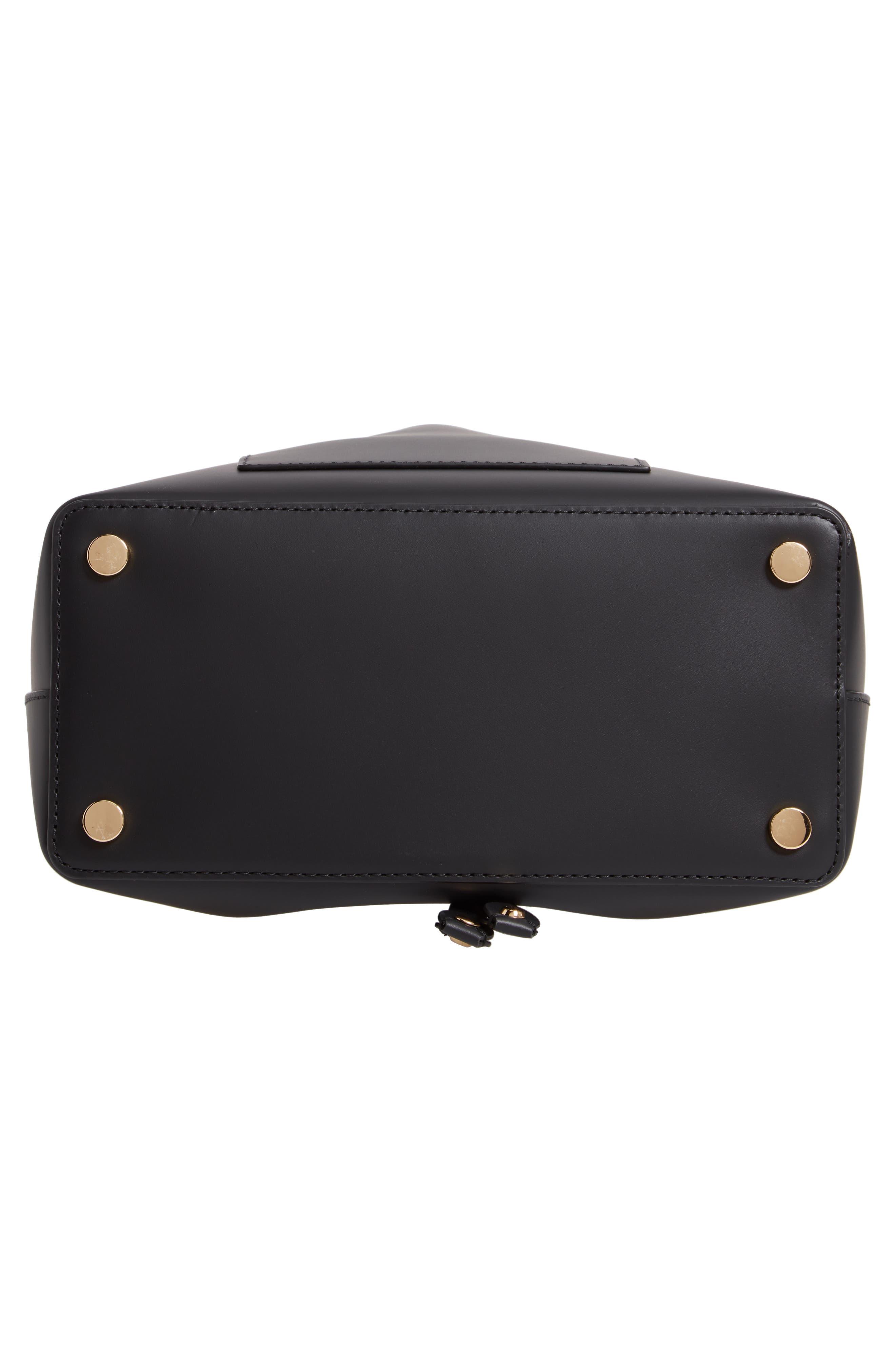 Blakely Leather Bucket Bag,                             Alternate thumbnail 6, color,                             BLACK