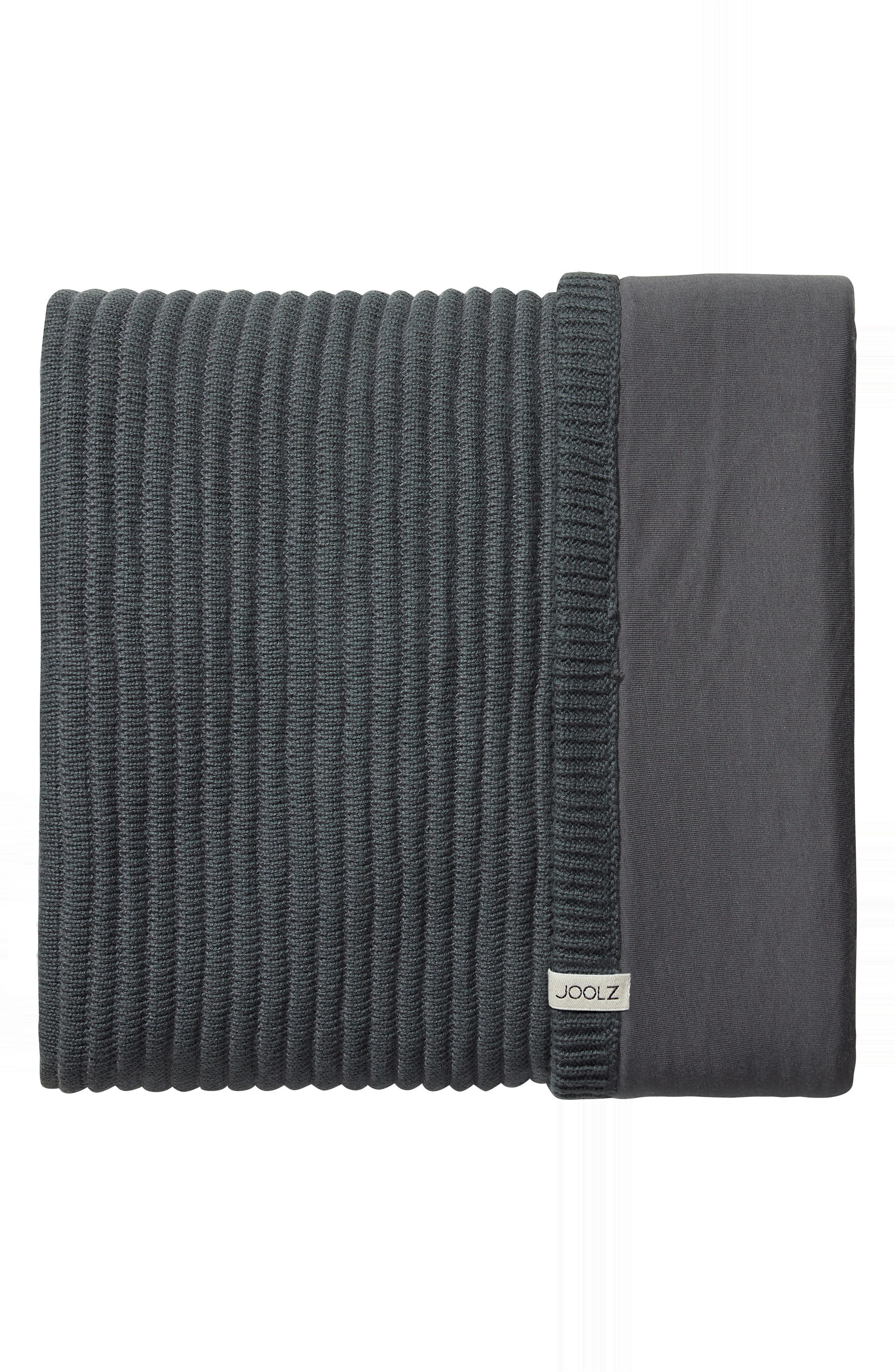 Essentials Ribbed Organic Cotton Blanket,                             Main thumbnail 1, color,                             GREY
