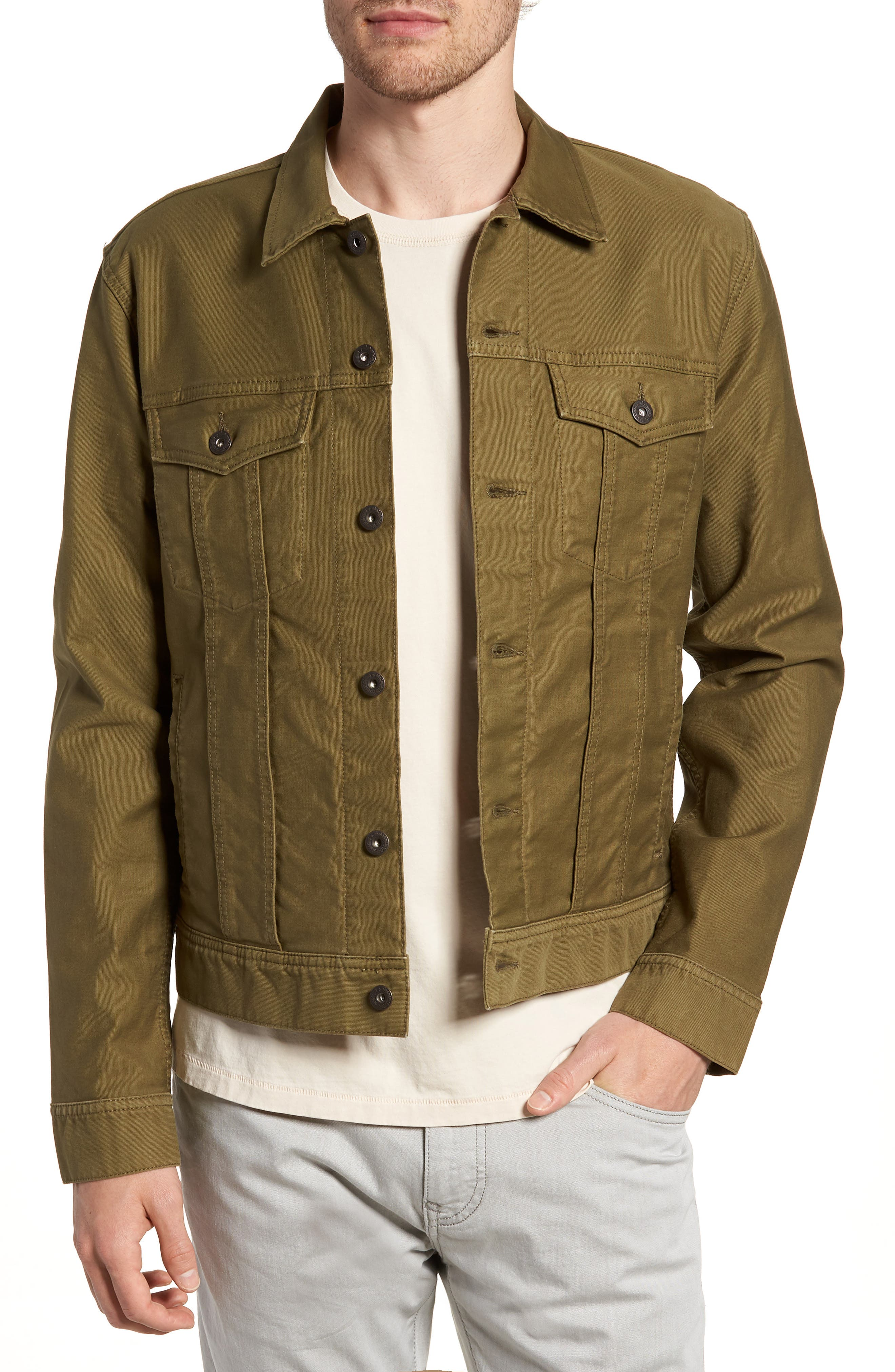 Garment Dyed Bedford Cord Trucker Jacket,                         Main,                         color, 300