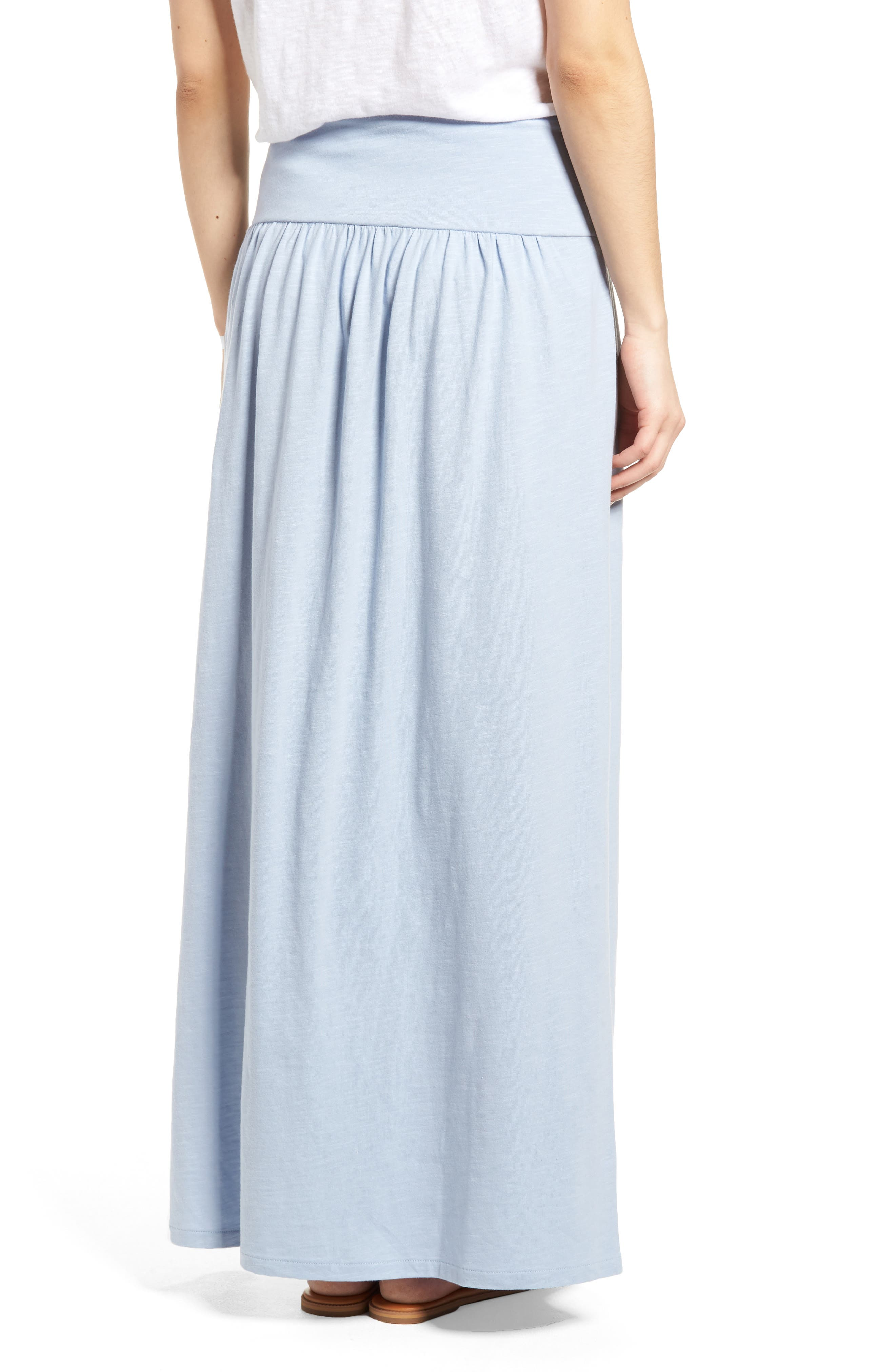 Tie Front Cotton Maxi Skirt,                             Alternate thumbnail 9, color,
