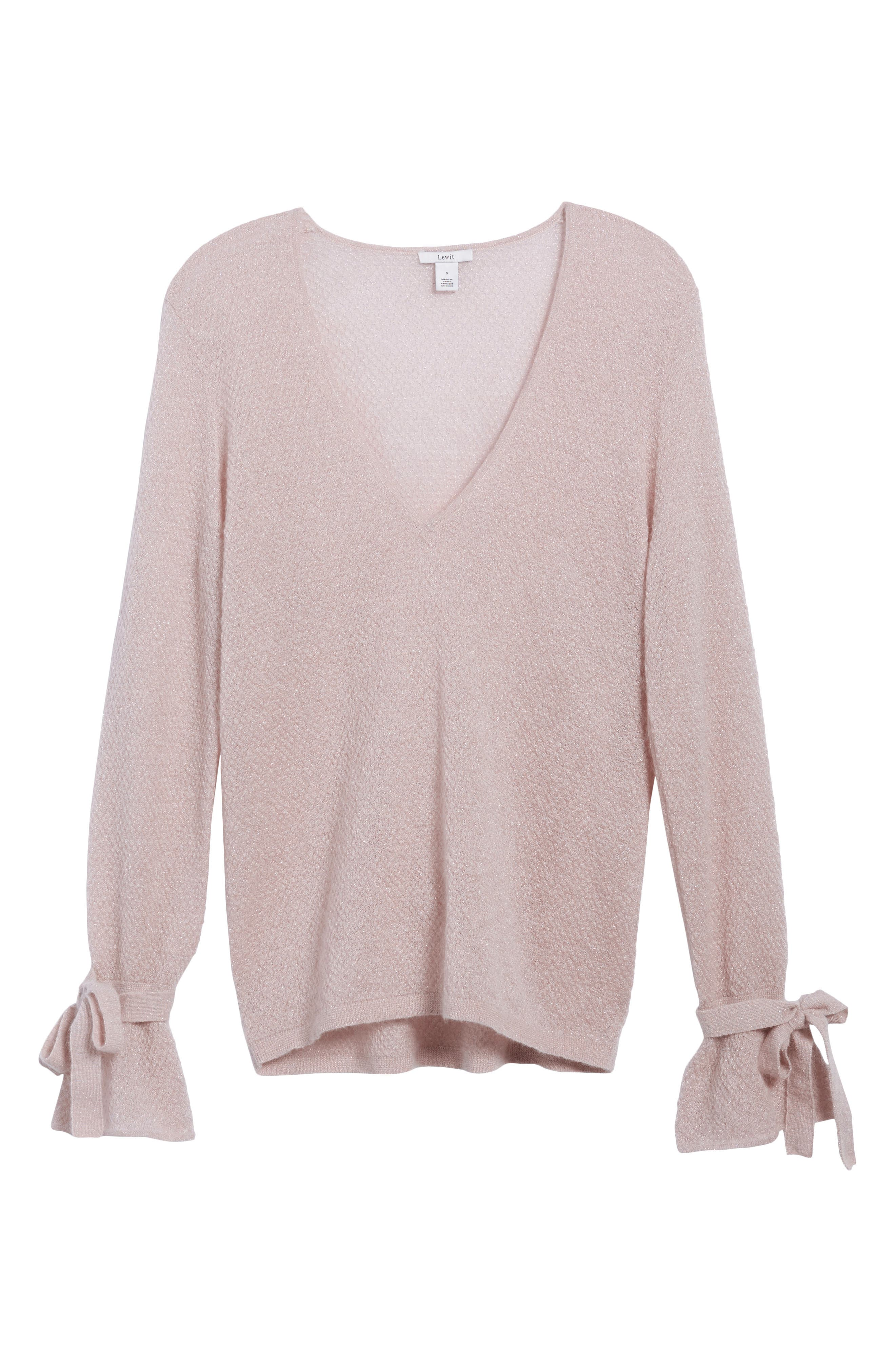Metallic Mohair Blend Sweater,                             Alternate thumbnail 11, color,