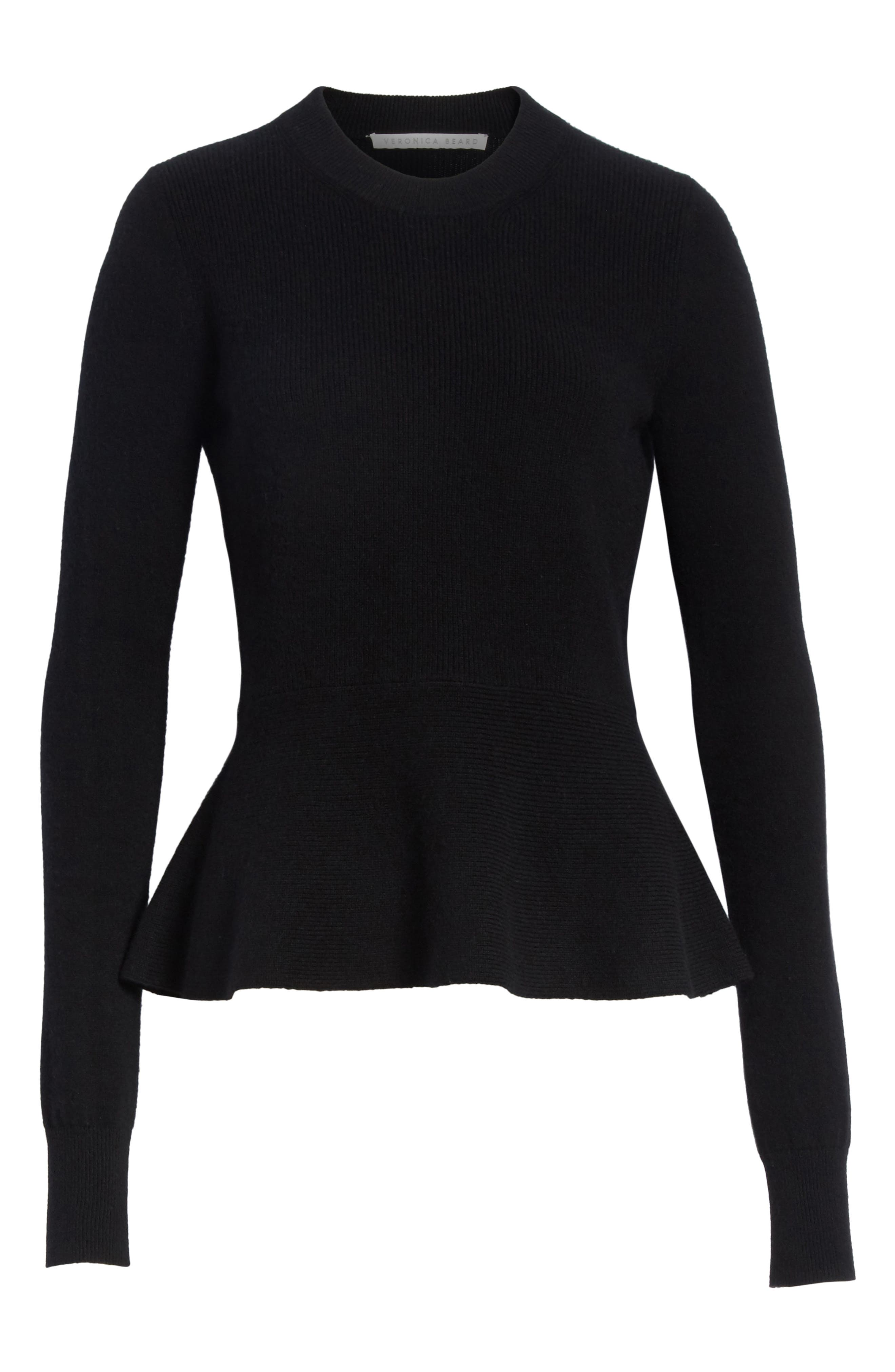 Raleigh Cashmere Peplum Sweater,                             Alternate thumbnail 16, color,
