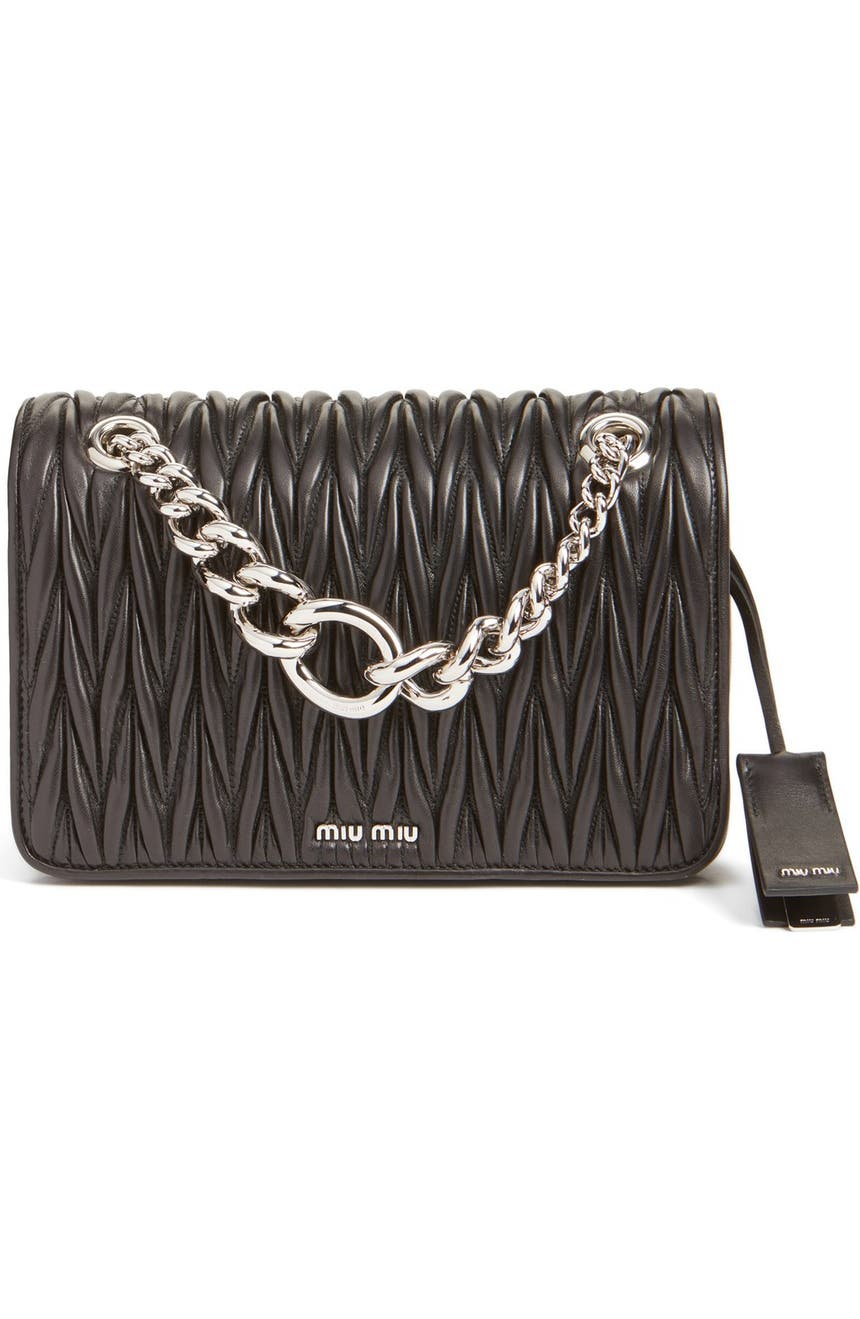 8131759e249e Miu Miu  Club  Matelassé Leather Shoulder Bag