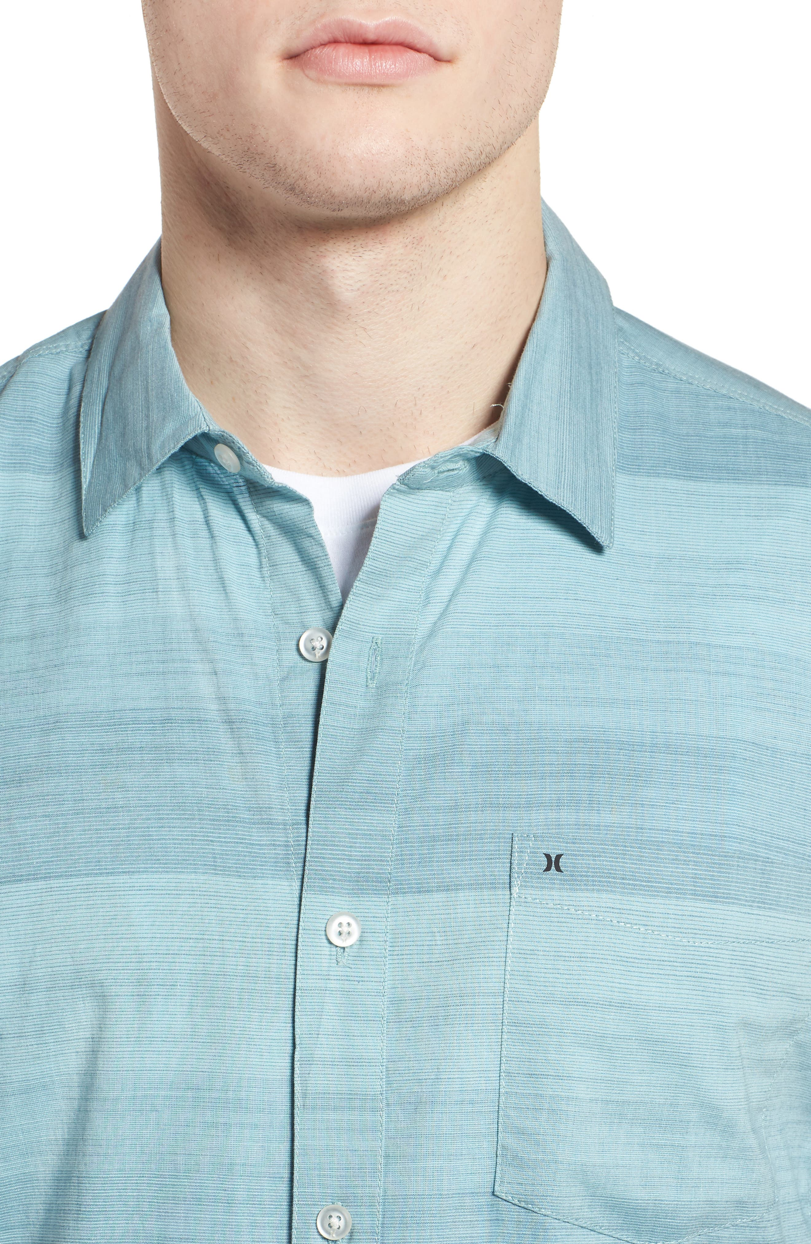 Morris Shirt,                             Alternate thumbnail 4, color,                             NOISE AQUA
