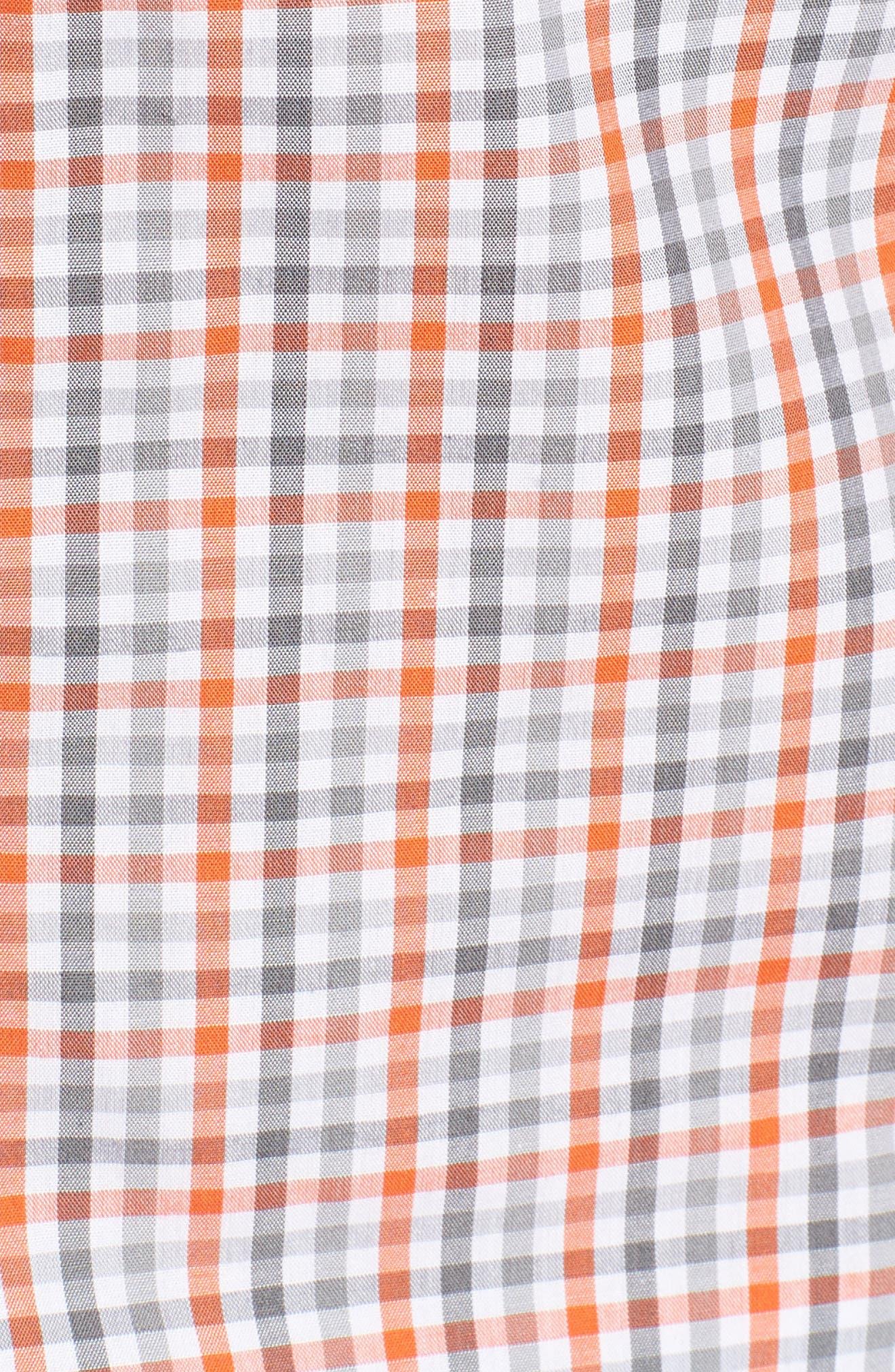 Cincinnati Bengals - Gilman Regular Fit Plaid Sport Shirt,                             Alternate thumbnail 5, color,                             COLLEGE ORANGE